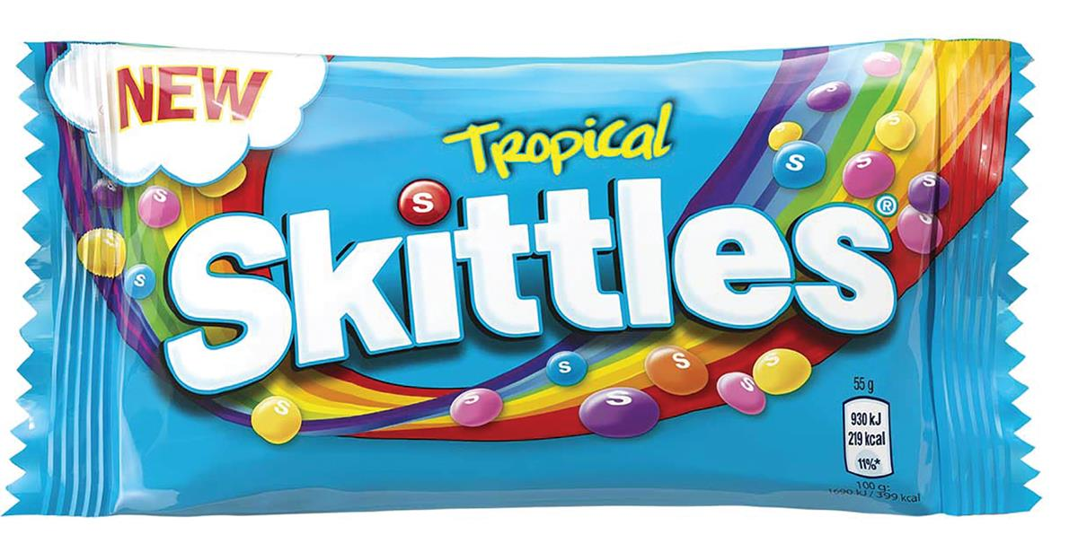 Skittles Tropical Bag 55g Ref 34593 [Pack 36]