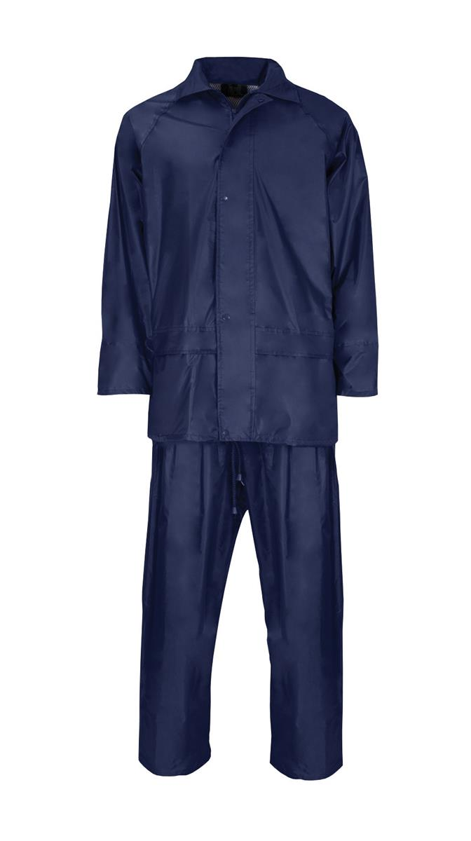 ST Rainsuit Polyester/PVC with Elasticated Waisted Trousers Large Navy Ref 18393 *Approx 3 Day Leadtime*