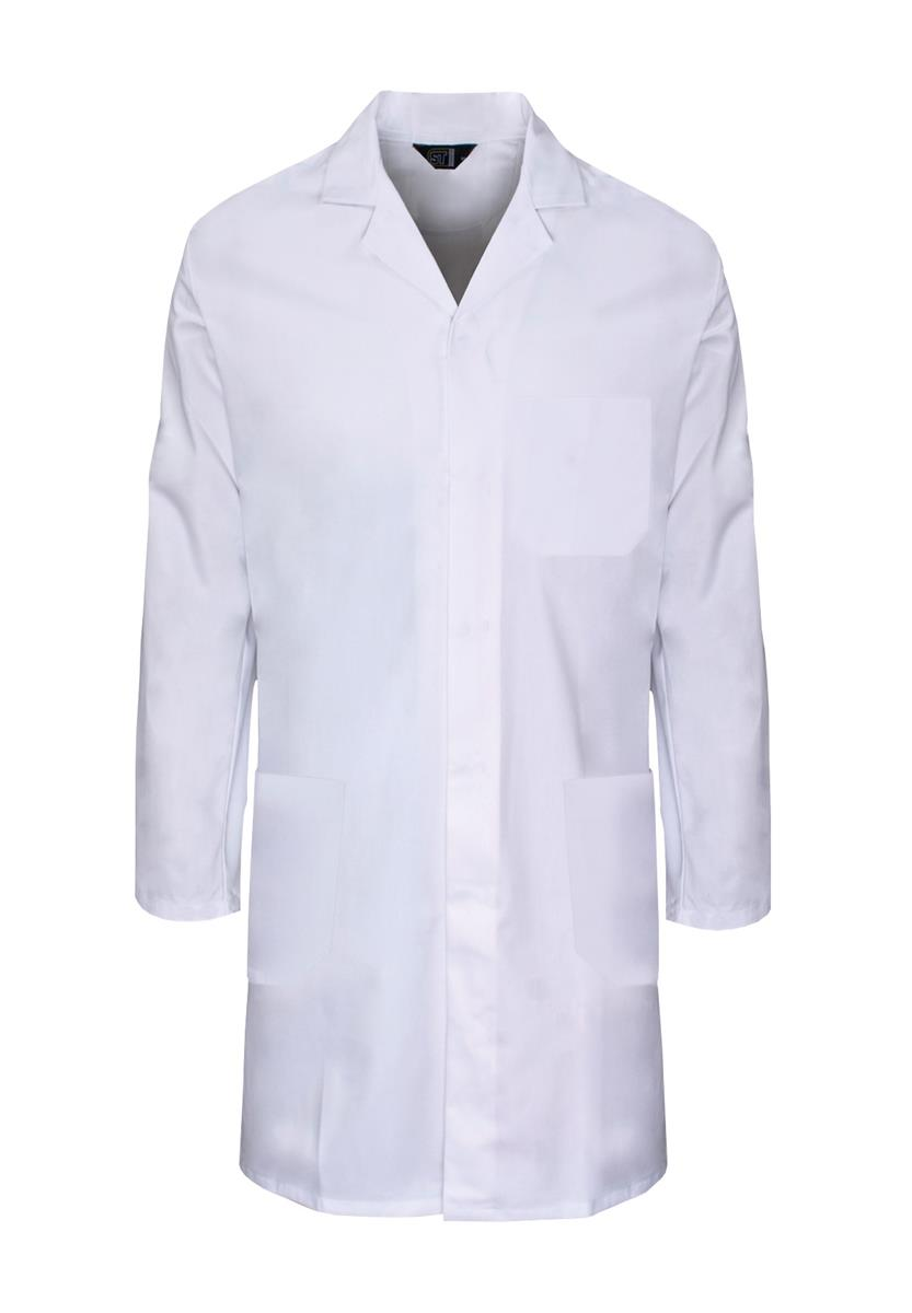 Supertouch Lab Coat Polycotton with 3 Pockets Small White Ref 57001 *Approx 3 Day Leadtime*