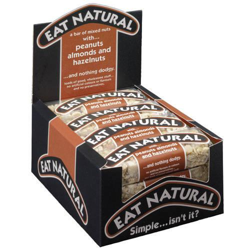 Eat Natural Energy Bar made from Peanuts Hazelnuts and Almonds 50g [Pack 12]