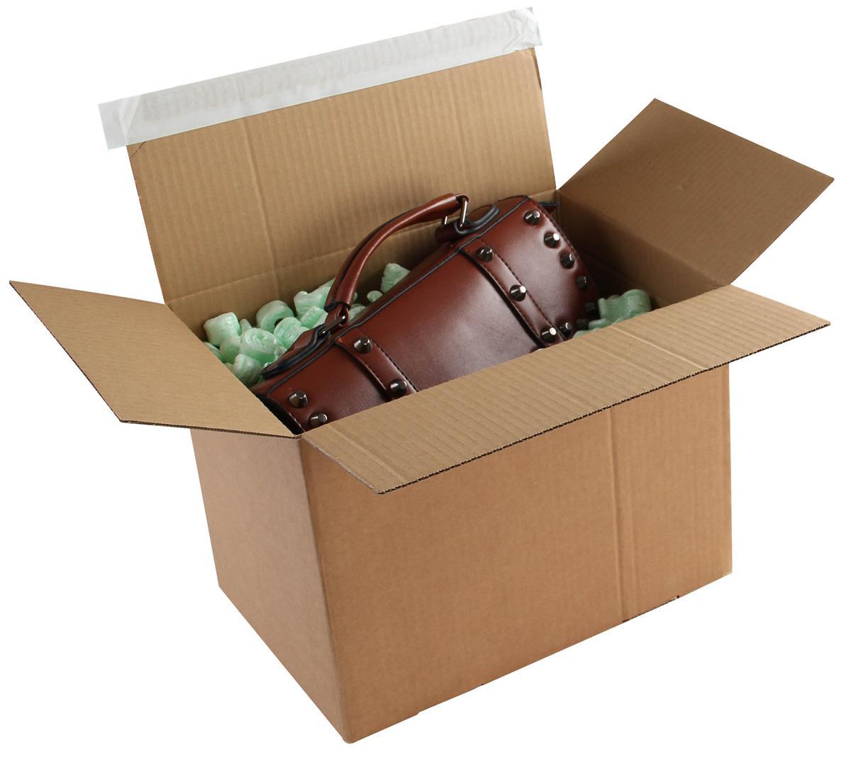 Blakes Postal Box Peel & Seal WxDxH 400x260x250mm Kraft Ref PEB60 [Pack 20]