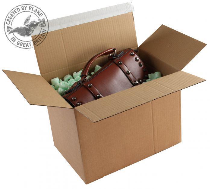 Blakes Postal Box Peel & Seal WxDxH 345x256x130mm Kraft Ref PEB50 [Pack 20]