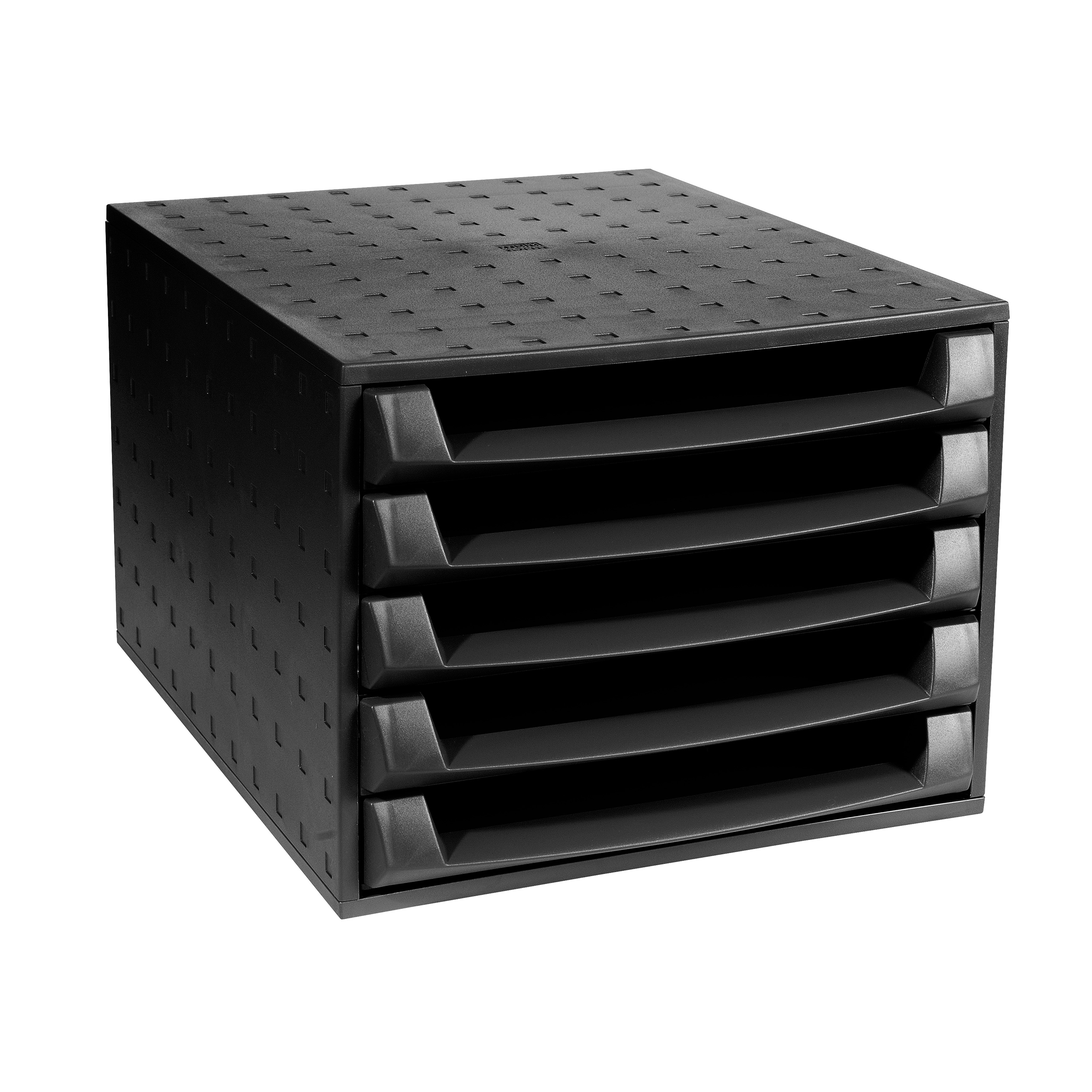 Exacompta Forever 5 Drawer Set Desktop Recycled Plastic W284xD387xH218mm Black Ref 221014D