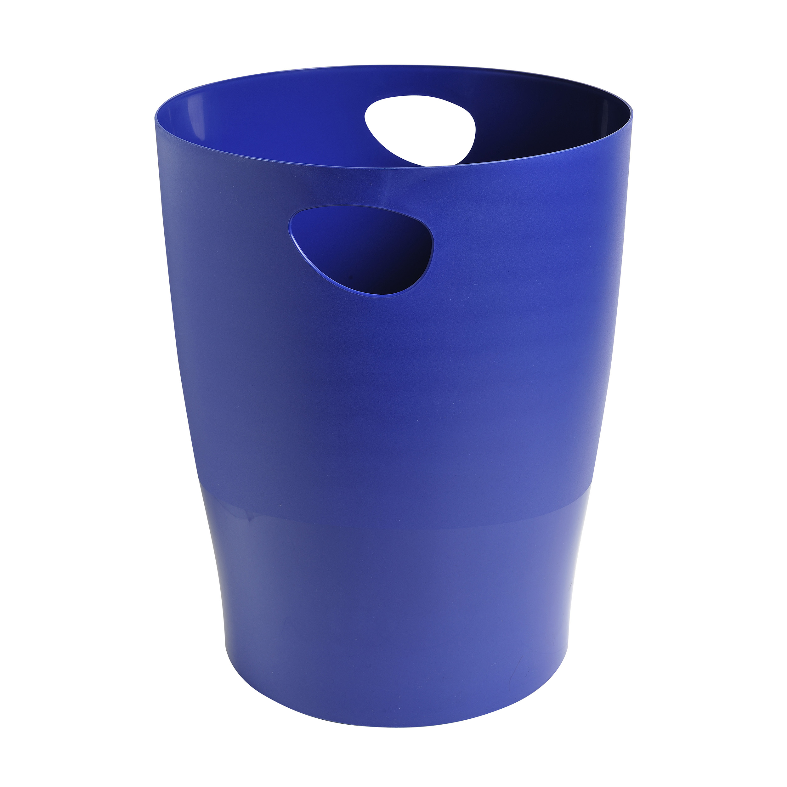 Non metallic bins Exacompta Forever Waste Bin 15L Recycled Plastic Dia 263xH335 Blue Ref 453104D