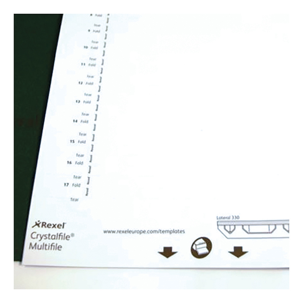 Inserts Rexel Crystalfile Classic Card Inserts for Lateral Suspension File Tabs White Ref 70676 Pack 25