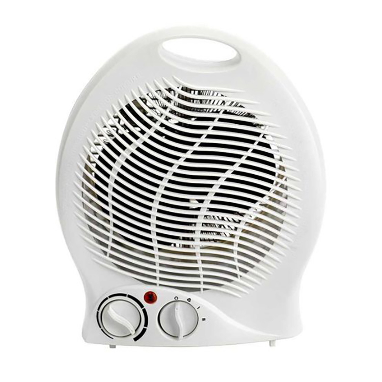 Circulation heaters 2kW Upright Fan Heater White with Thermostat 2 Heat Settings 1kW 2kW Ref FH1P-2000W