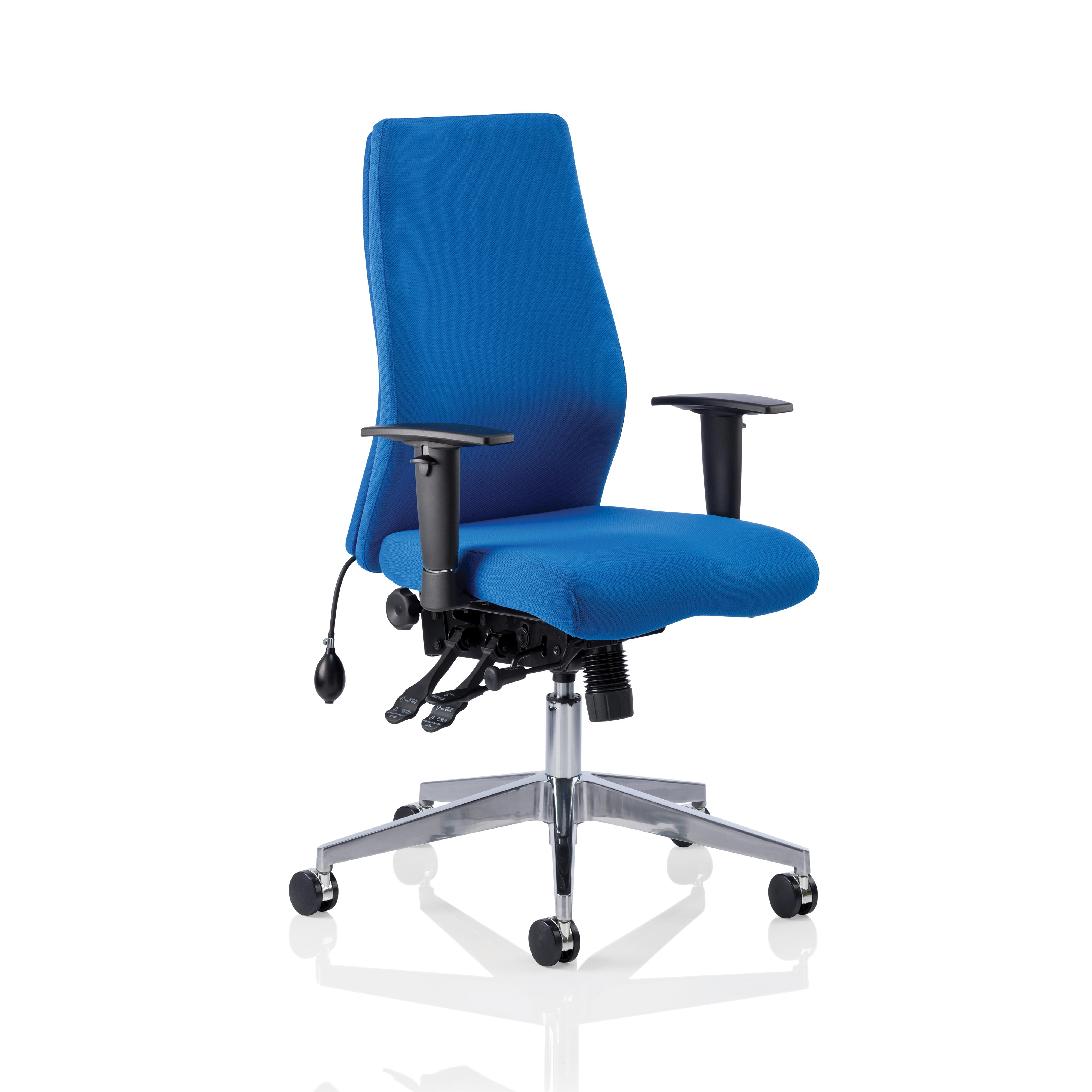 Adroit Onyx Posture Chair Blue 450x470-540x590-640mm Ref OP000097