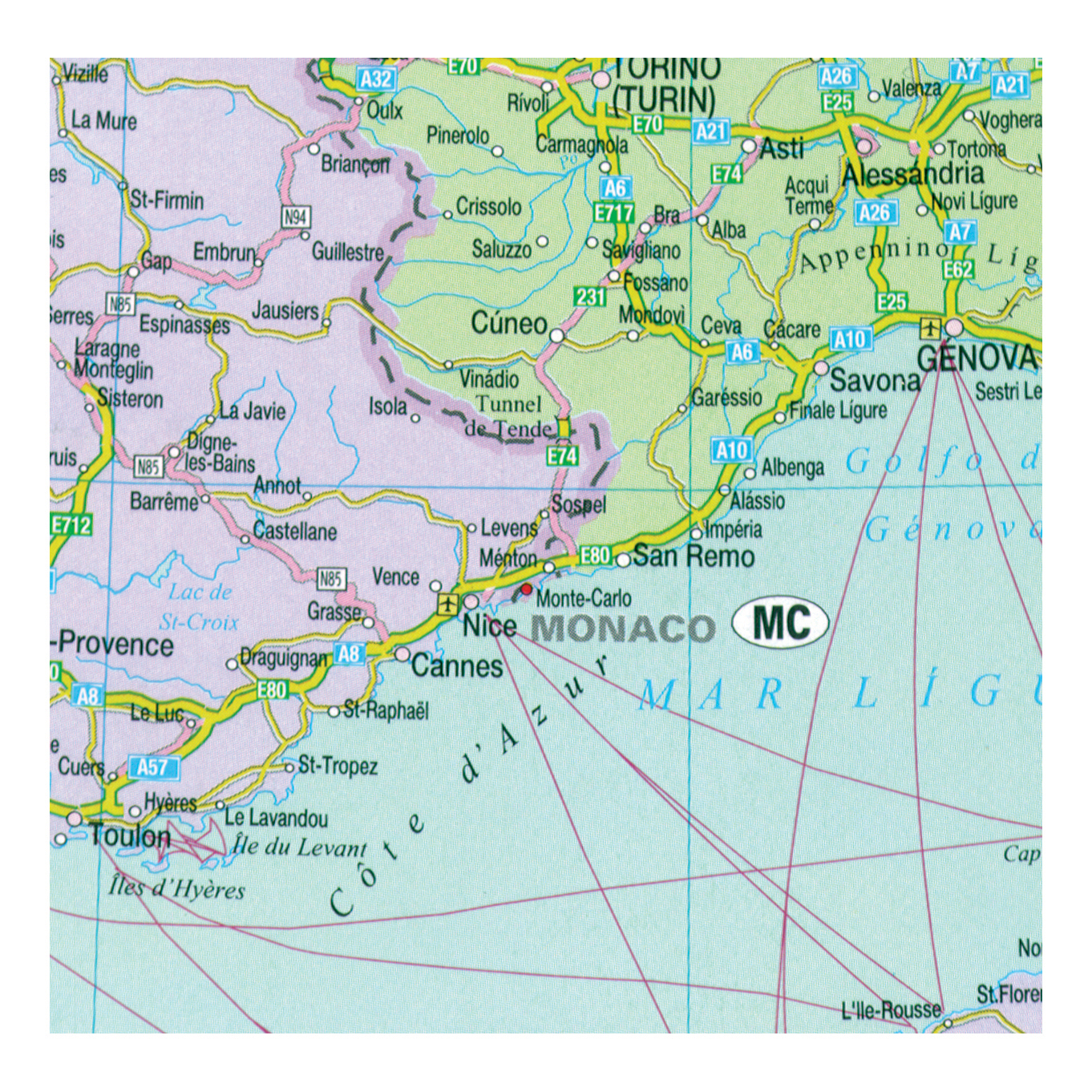 Map Marketing Europa Political Map Unframed 64 Miles to 1 inch Scale W1090xH930mm Ref EUR