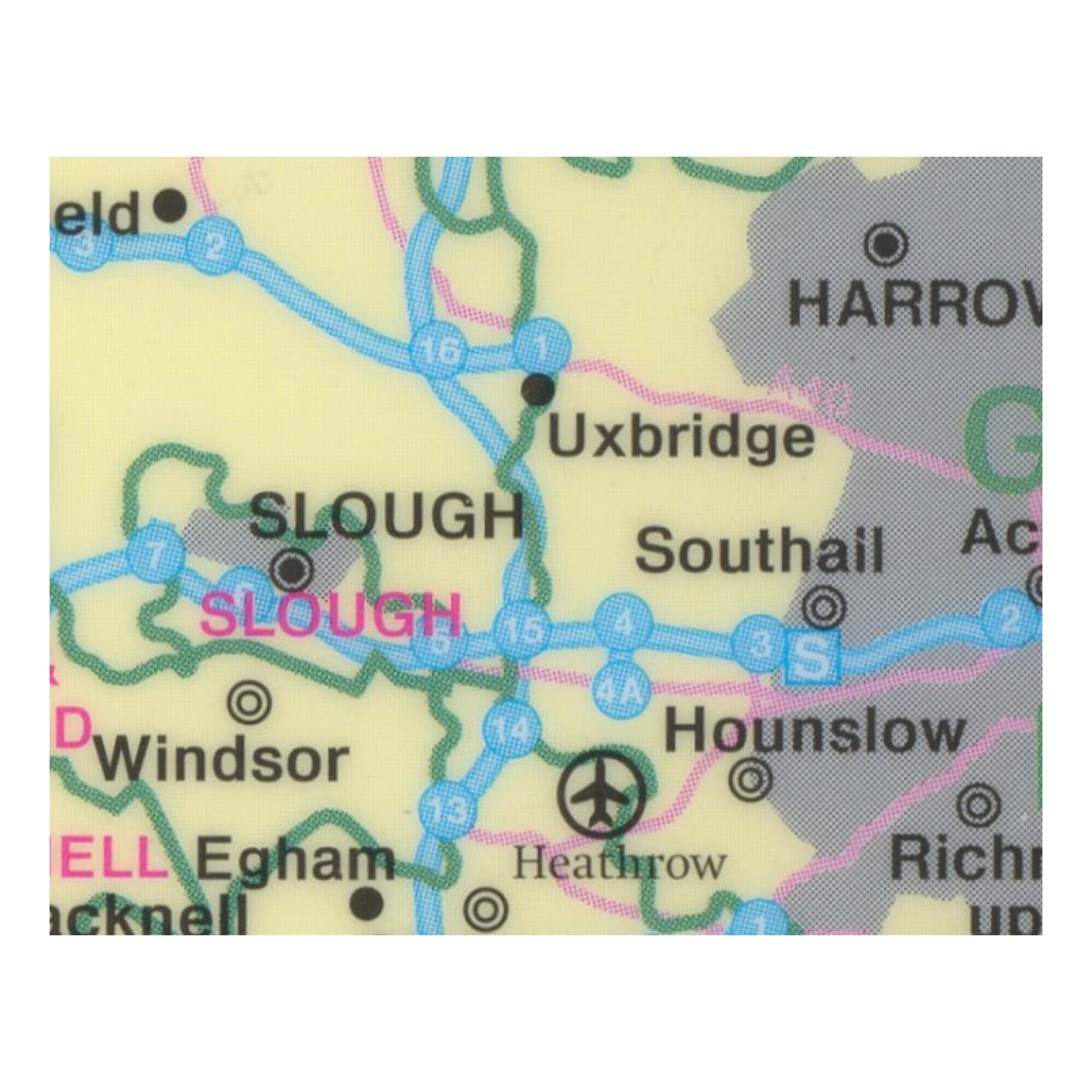 Map Marketing Sales and Marketing Map Unframed 12.5 Miles to 1 inch Scale W830xH1200mm Ref UKM