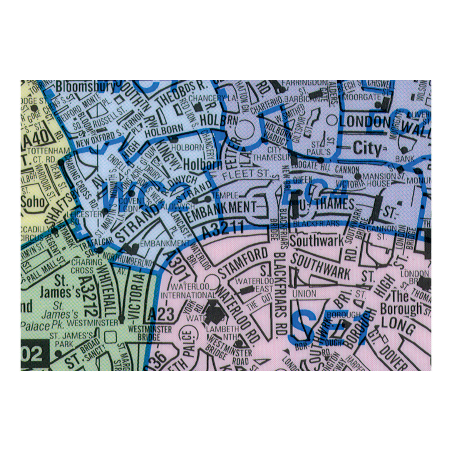 London Map Districts.Map Marketing Postal Districts Of London Map Unframed 1 Mile To 1