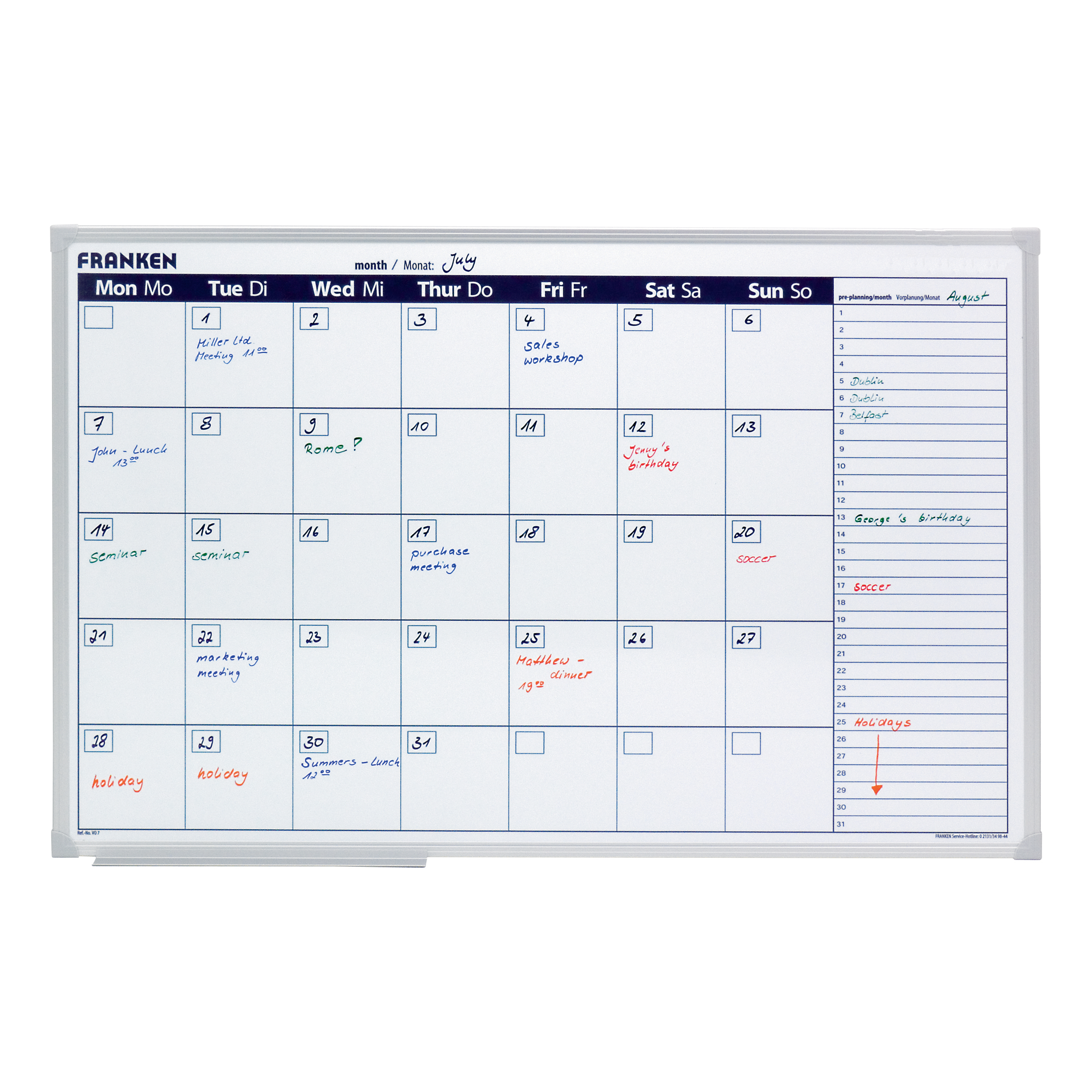 Mark-it Perpetual Year Planner Laminated with ...