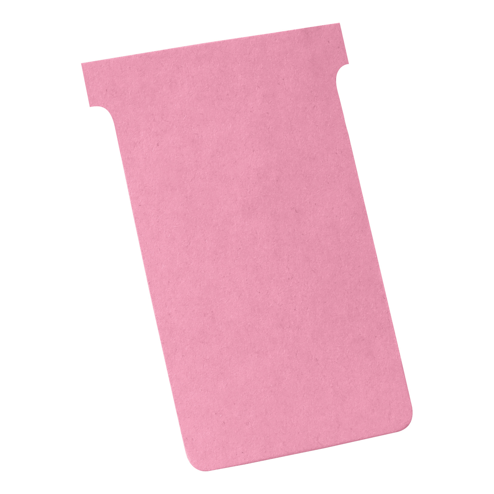Nobo T-Cards 160gsm Tab Top 15mm W124x Bottom W112x Full H180mm Size 4 Light Pink Ref 2004008 [Pack 100]