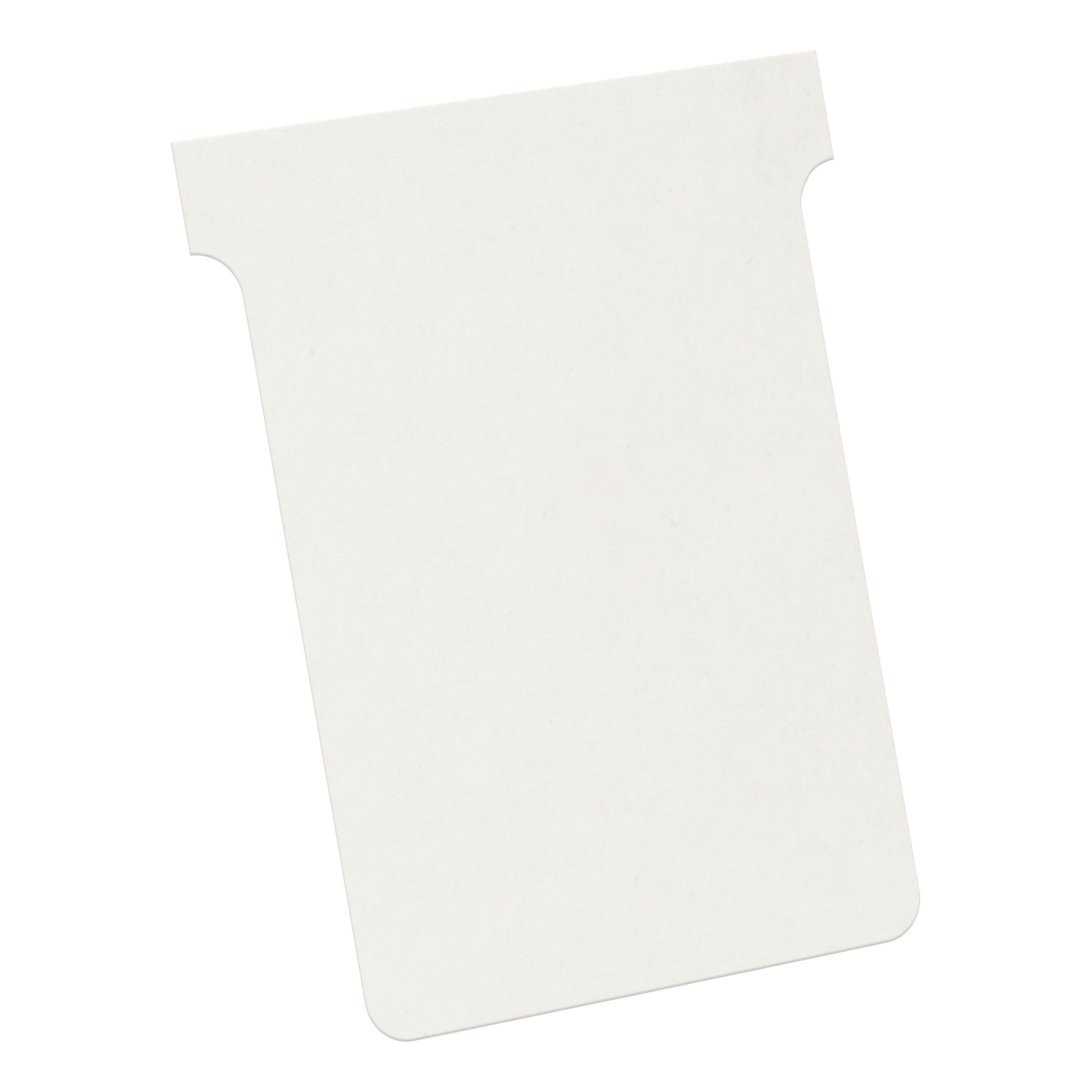 T Cards Nobo T-Cards 160gsm Tab Top 15mm W92x Bottom W80x Full H120mm Size 3 White Ref 2003002 Pack 100