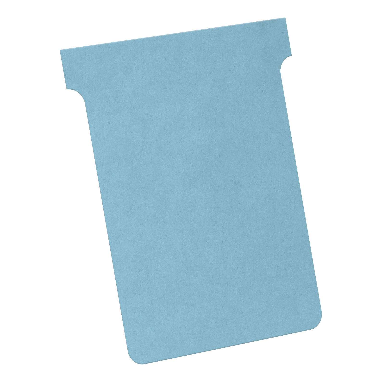 T Cards Nobo T-Cards 160gsm Tab Top 15mm W92x Bottom W80x Full H120mm Size 3 Light Blue Ref 2003006 Pack 100