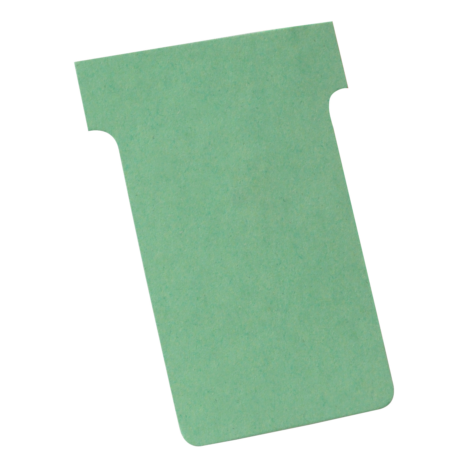 Nobo T-Cards 160gsm Tab Top 15mm W61x Bottom W48.5x Full H86mm Size 2 Green Ref 32938902 [Pack 100]
