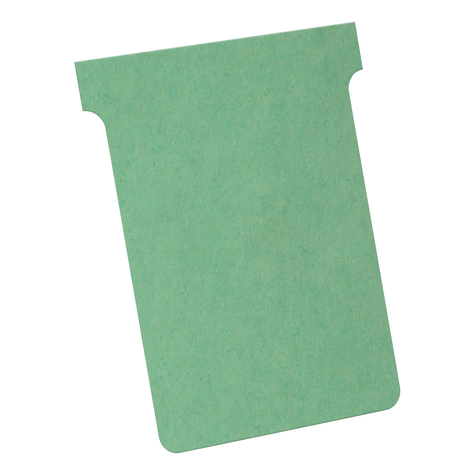 Nobo T-Cards 160gsm Tab Top 15mm W93x Bottom W80x Full H120mm Size 3 Green Ref 32938913 [Pack 100]