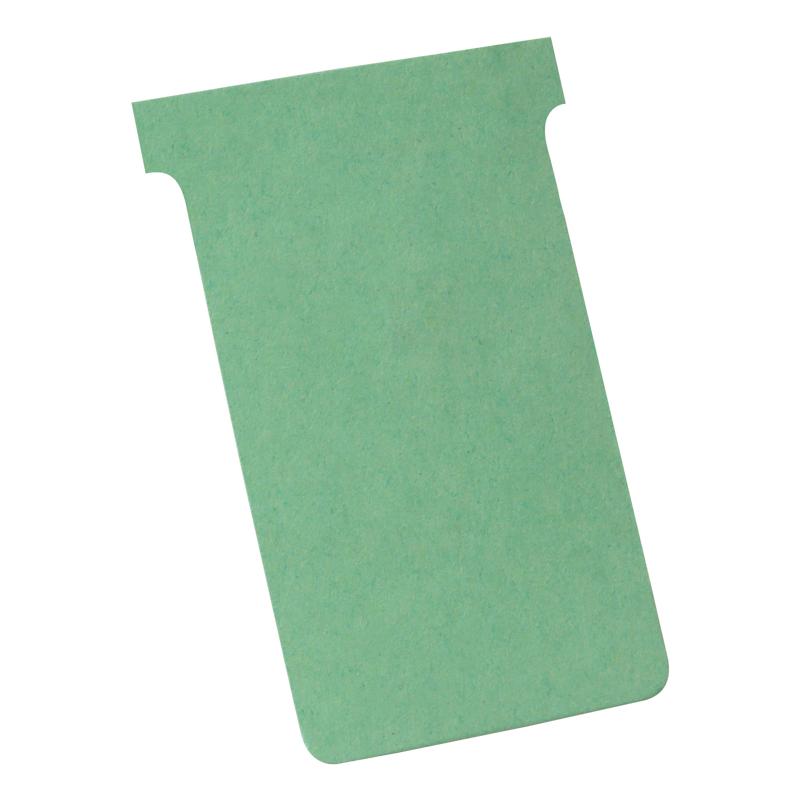 Nobo T-Cards 160gsm Tab Top 15mm W123x Bottom W112x Full H178mm Size 4 Green Ref 32938924 Pack 100