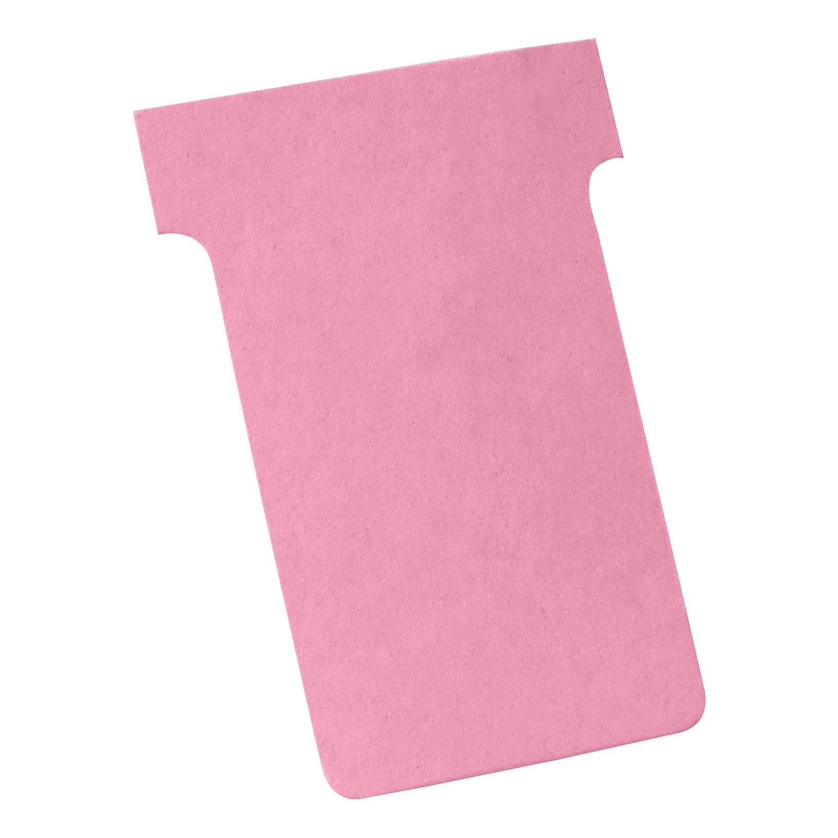 Nobo T-Cards 160gsm Tab Top 15mm W61x Bottom W48.5x Full H86mm Size 2 Pink Ref 2002008 Pack 100