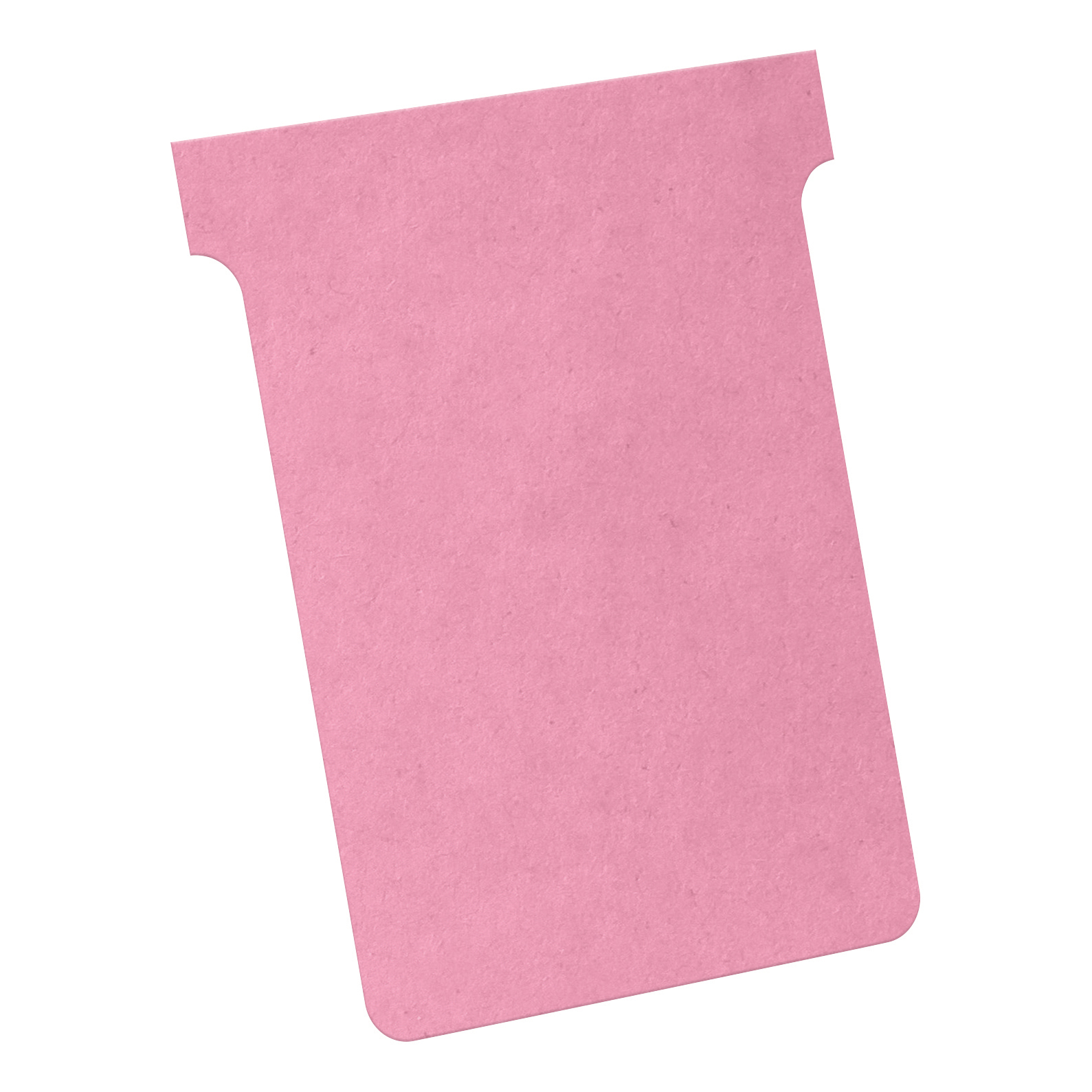 Nobo T-Cards 160gsm Tab Top 15mm W93x Bottom W80x Full H120mm Size 3 Pink Ref 2003008 Pack 100