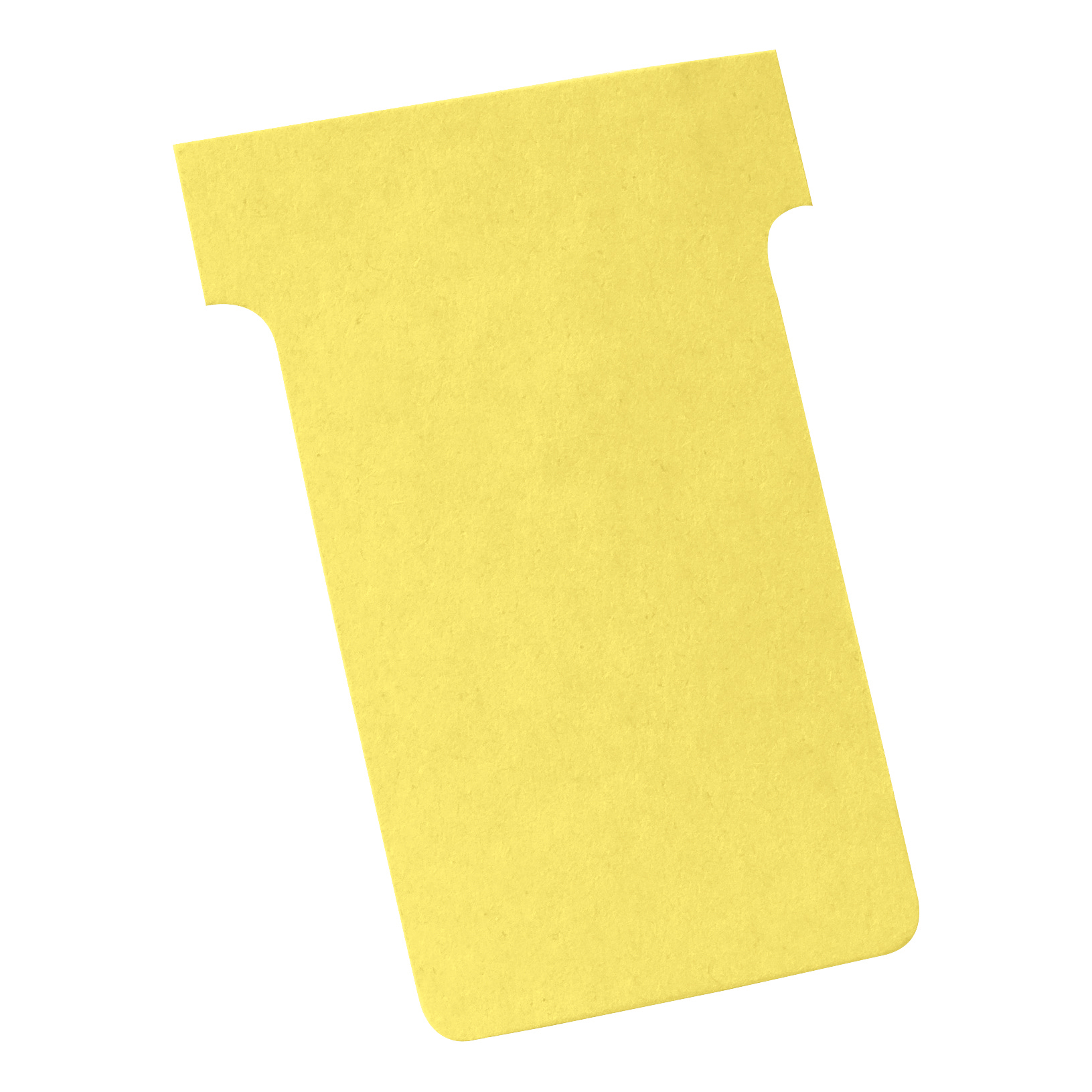 Nobo T-Cards 160gsm Tab Top 15mm W60x Bottom W48.5x Full H85mm Size 2 Yellow Ref 2002004 [Pack 100]