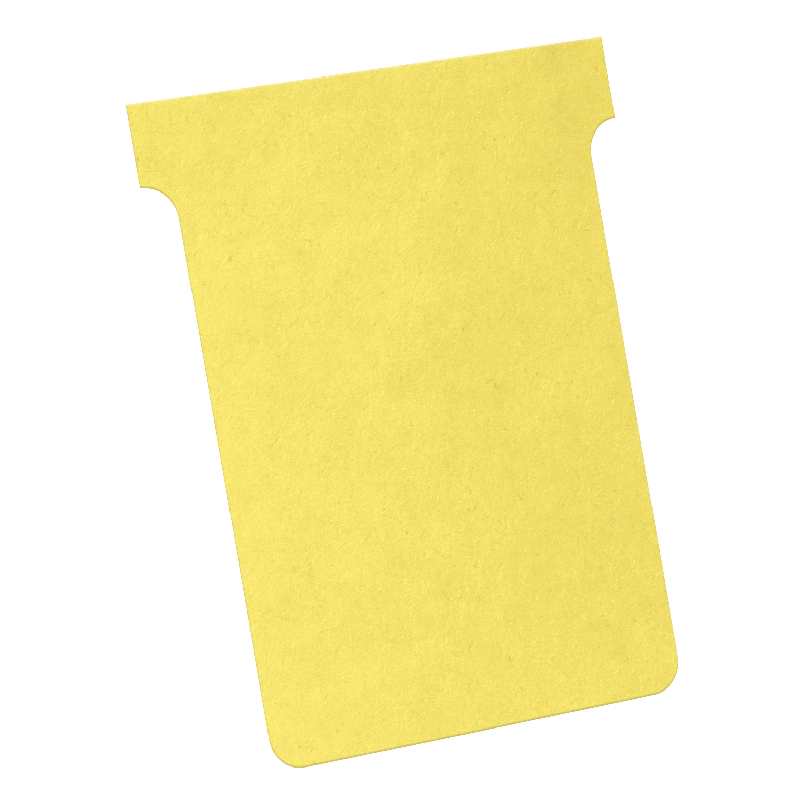 Nobo T-Cards 160gsm Tab Top 15mm W92x Bottom W80x Full H120mm Size 3 Yellow Ref 2003004 [Pack 100]