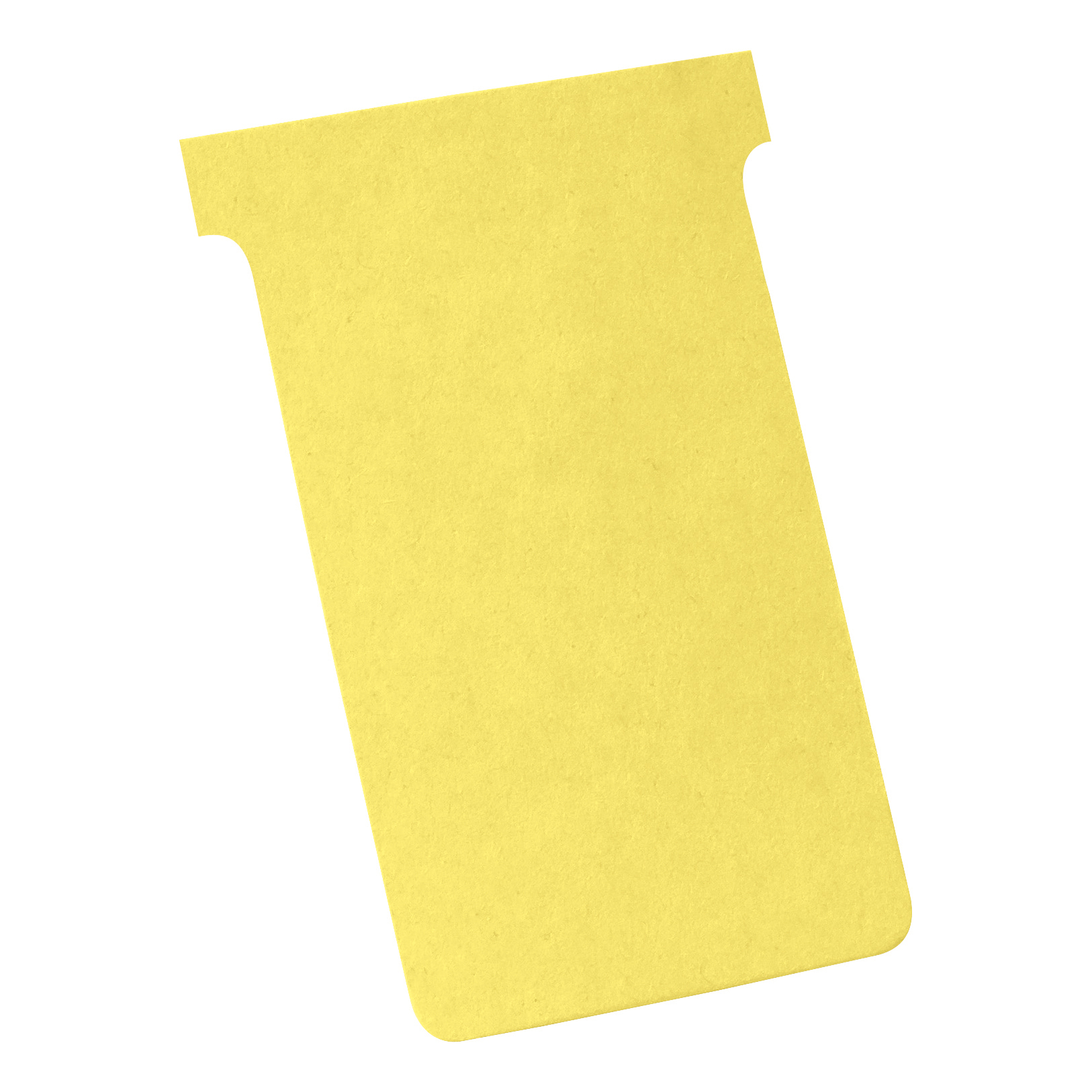 Nobo T-Cards 160gsm Tab Top 15mm W123x Bottom W112x Full H178mm Size 4 Yellow Ref 2004004 Pack 100