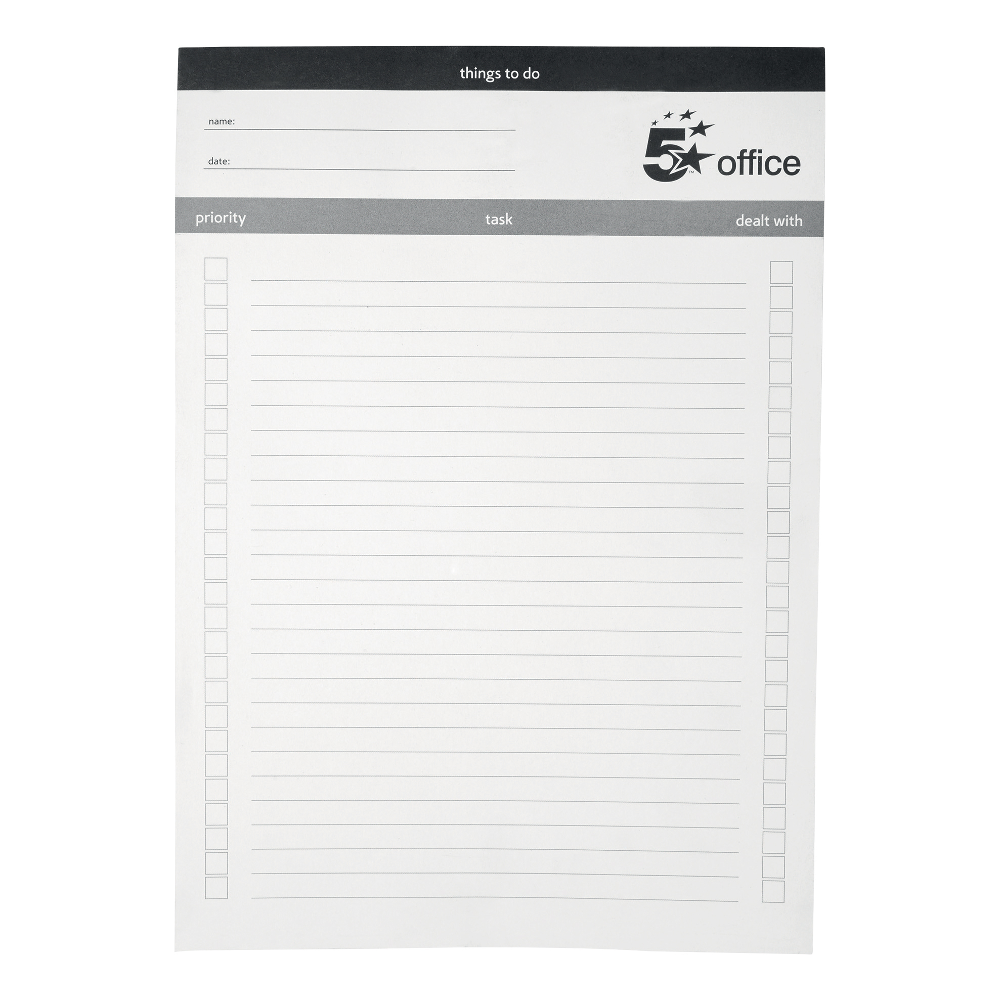 5 Star Office Things To Do Today Pad A4 50pp