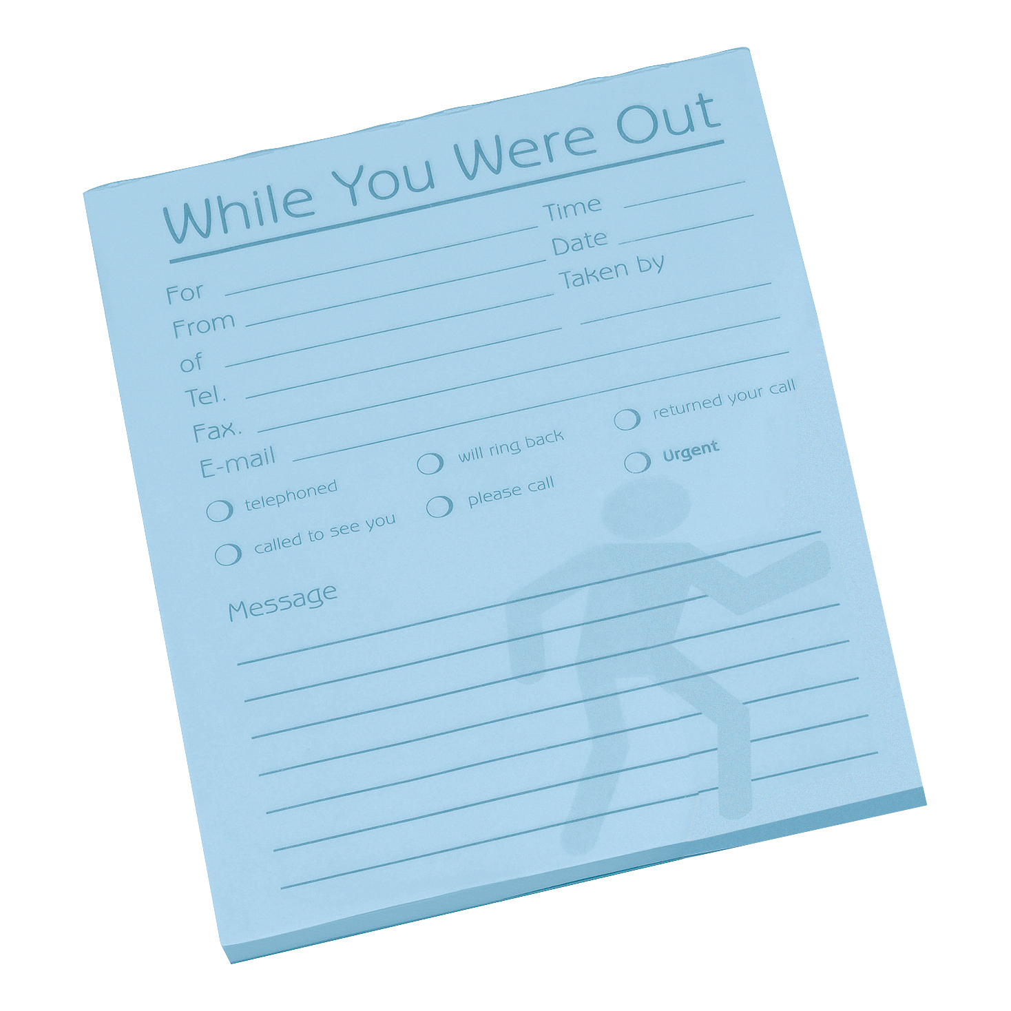 Challenge While You Were Out Messgae Pad 80 Sheets 127x102mm Pale Blue Paper Pack 10