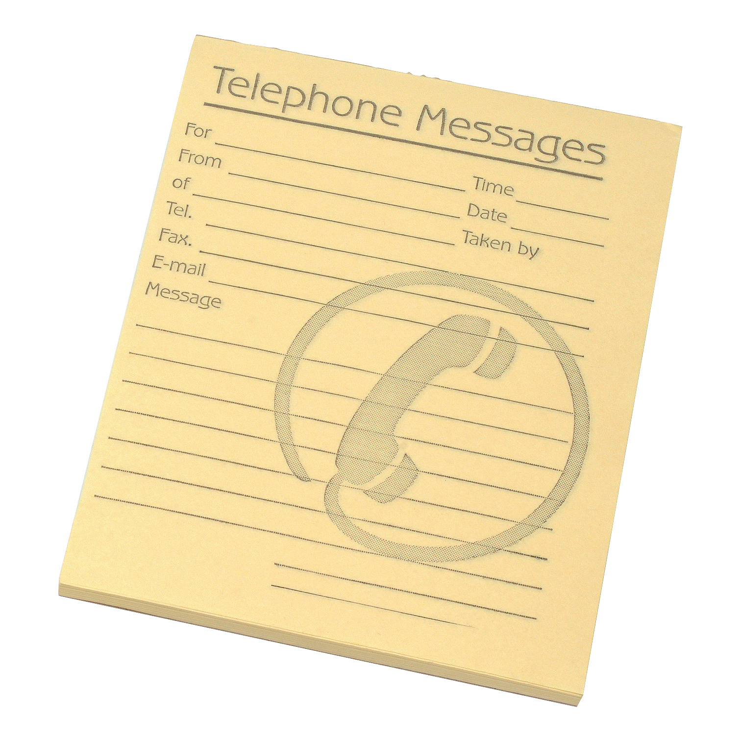 Challenge Telephone Message Pad 80 Sheets 127x102mm Yellow Paper Pack 10