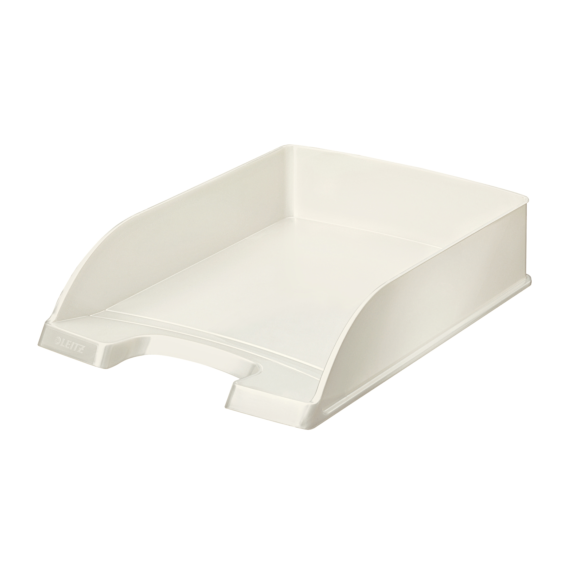 Letter Trays Leitz WOW Letter Tray Stackable Glossy White Pearl Ref 52263001