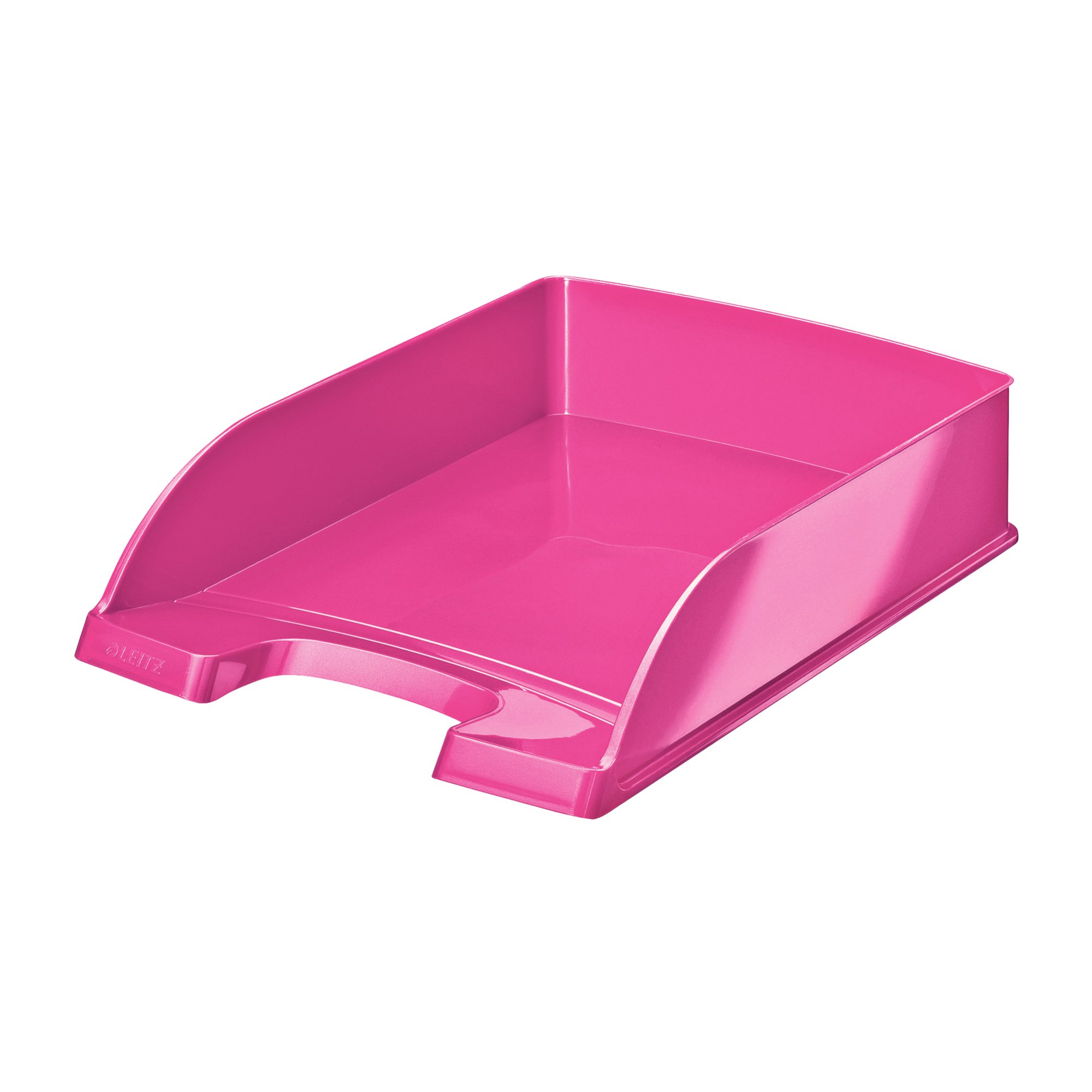 Letter Trays Leitz WOW Letter Tray Stackable Glossy Metallic W245xD380xH70mm Met Pink Ref 52263023