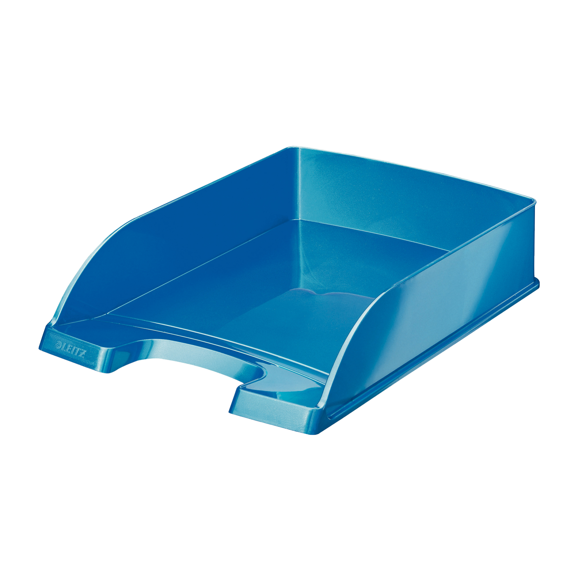 Letter Trays Leitz WOW Letter Tray Stackable Glossy Metallic W245xD380xH70mm Met Blue Ref 52263036