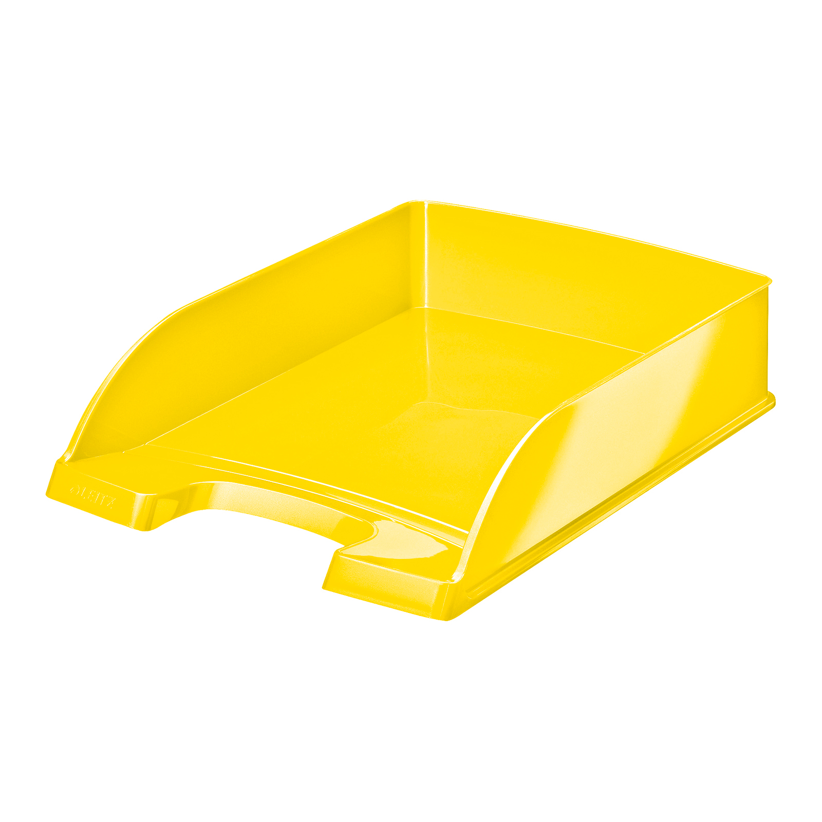 Letter Trays Leitz WOW Letter Tray Stackable Glossy Yellow Ref 52263016