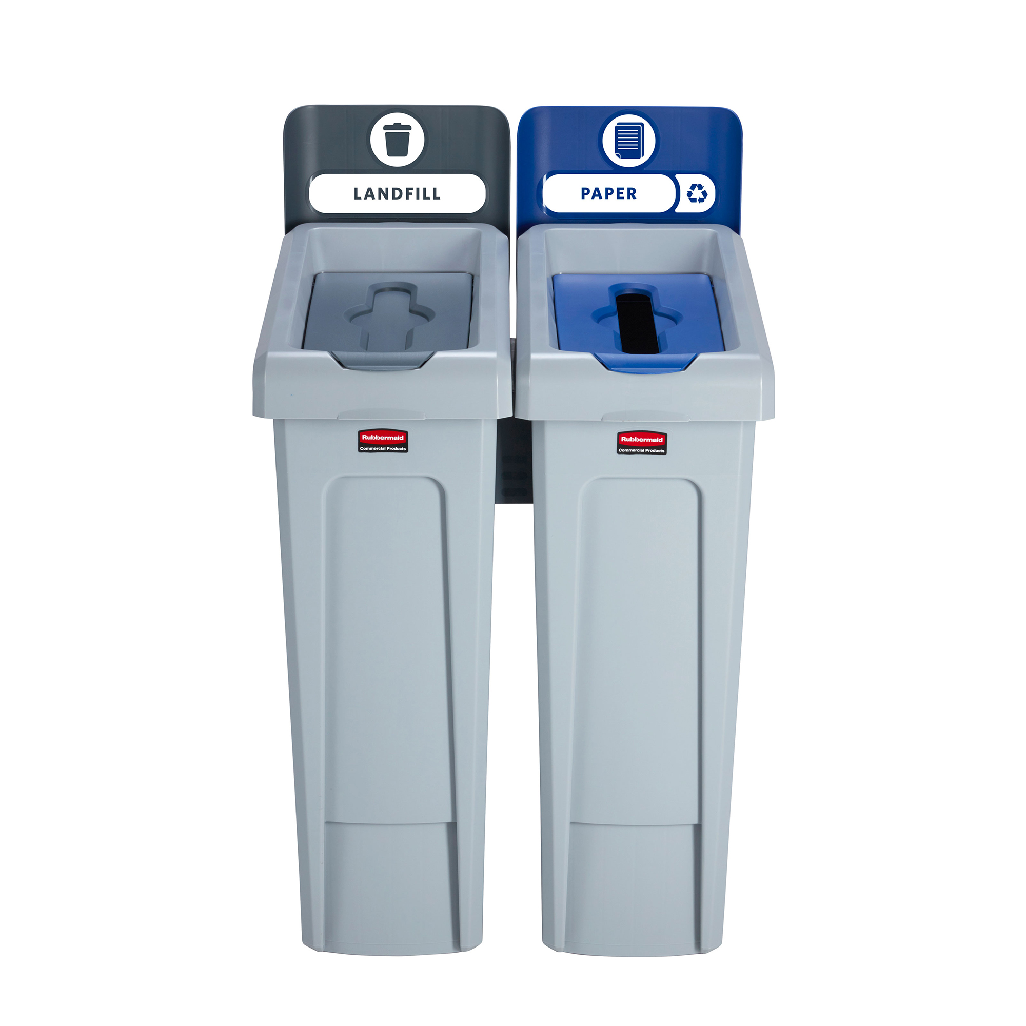 Recycling Bins Slim Jim Recycling Station 2 Stream 609x546x1022mm Ref 2057610