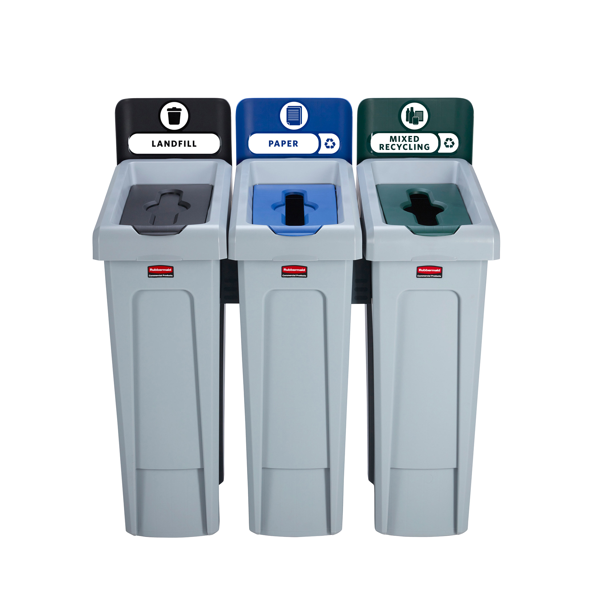 Recycling Bins Slim Jim Recycling Station 3 Stream 914x546x1022mm Ref 2057606