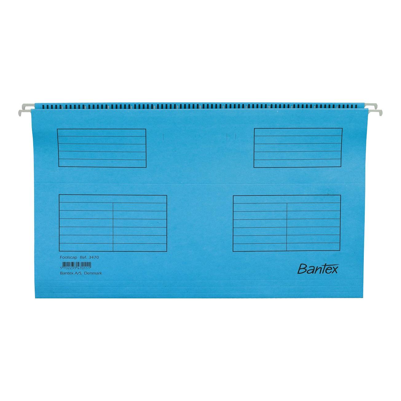 Suspension File Bantex Flex Suspension File Kraft V-Base 15mm 220gsm Foolscap Blue Ref 100331437 Pack 25
