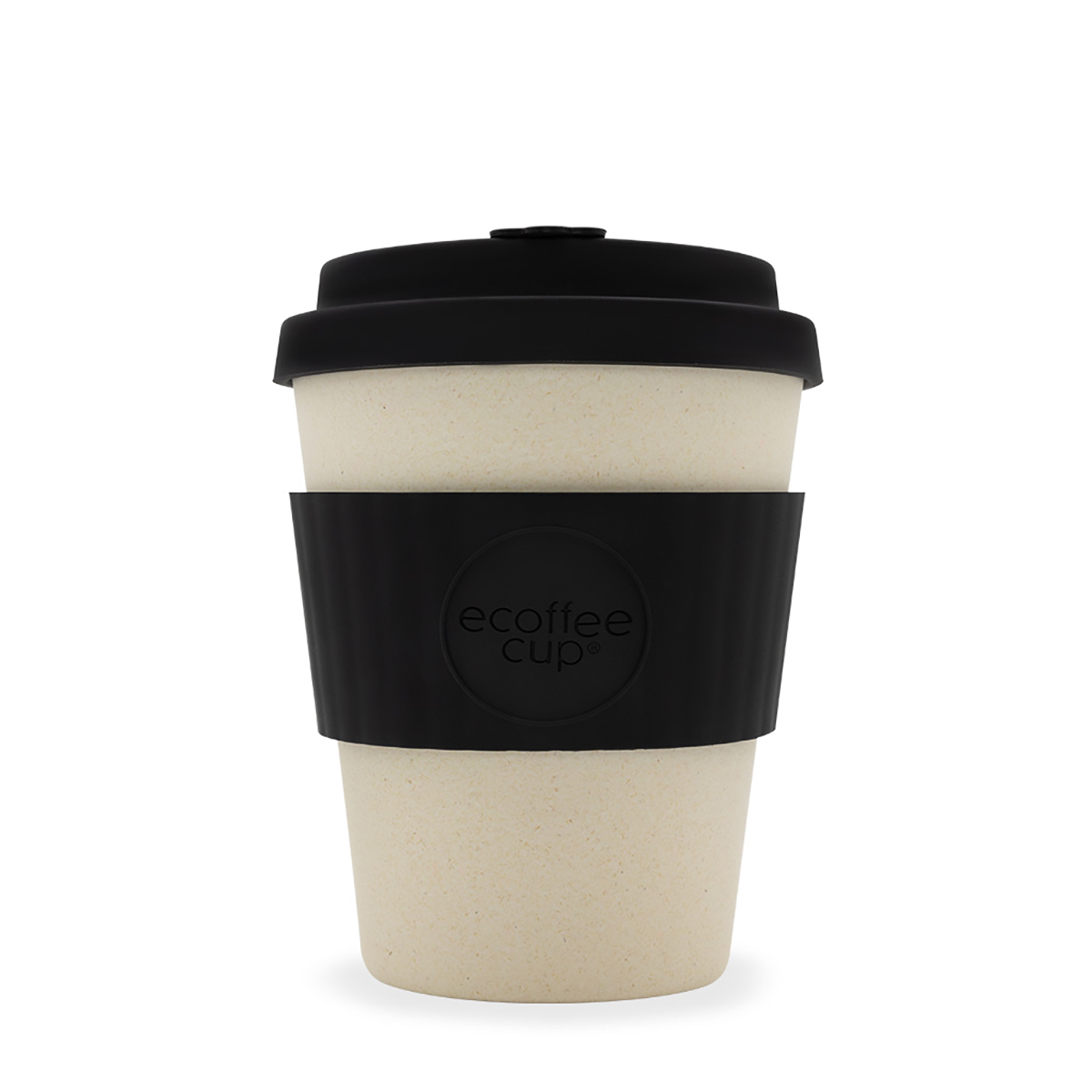 Domestic disposable cups or glasses or lids Ecoffee Eco 12oz Black Nature Cup Ref 0303028