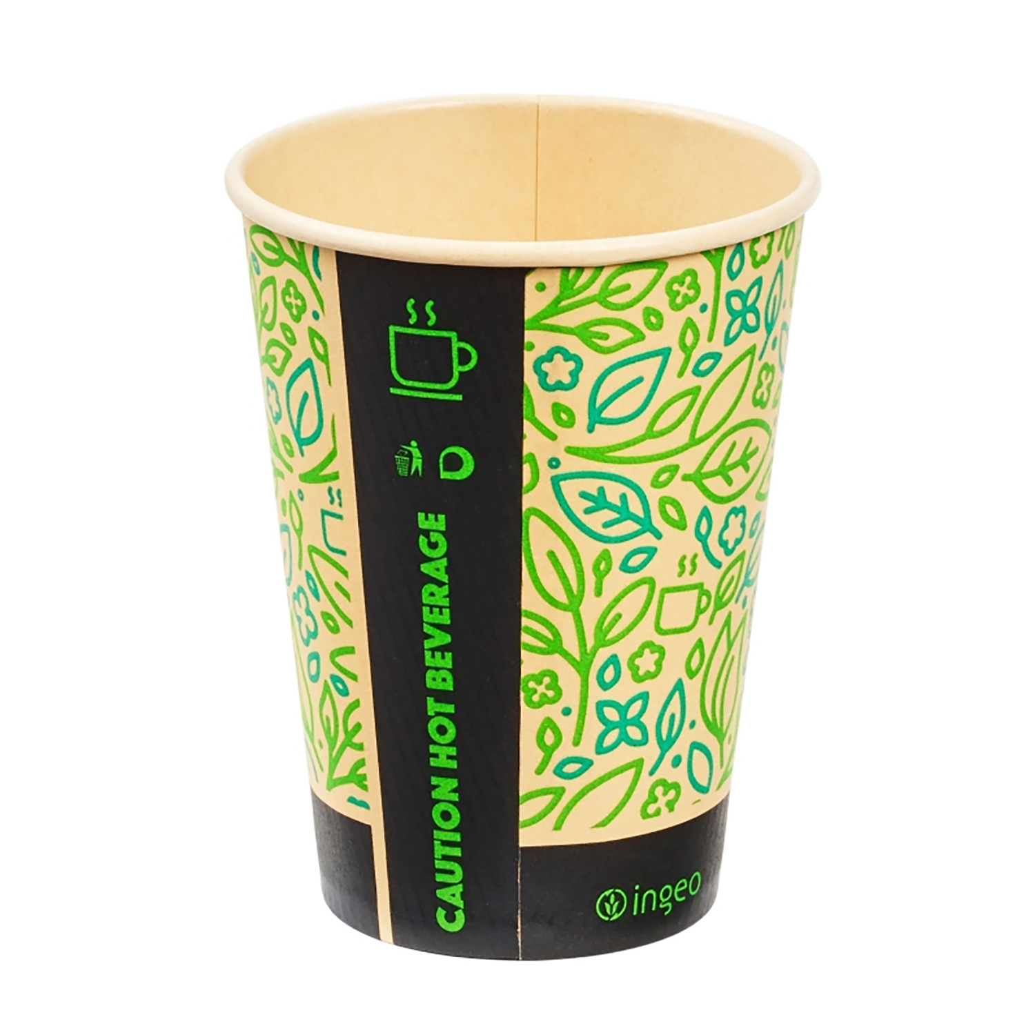 Domestic disposable cups or glasses or lids Ingeo Ultimate Eco Bamboo 8oz Biodegradable Disposable Cups Ref 0511223 [Pack 25]