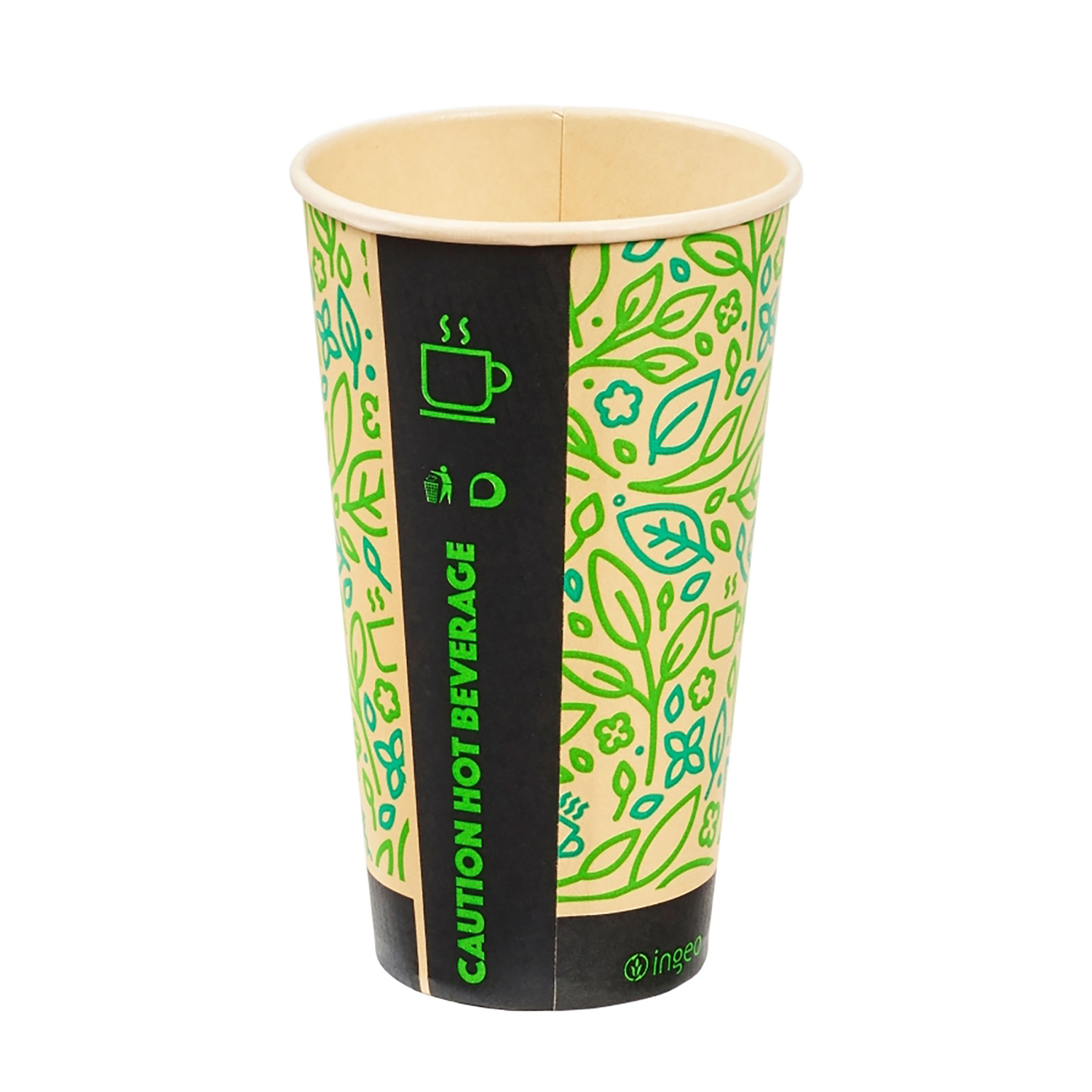 Domestic disposable cups or glasses or lids Ingeo Ultimate Eco Bamboo 16oz Biodegradable Disposable Cups Ref 0511225 [Pack 25]