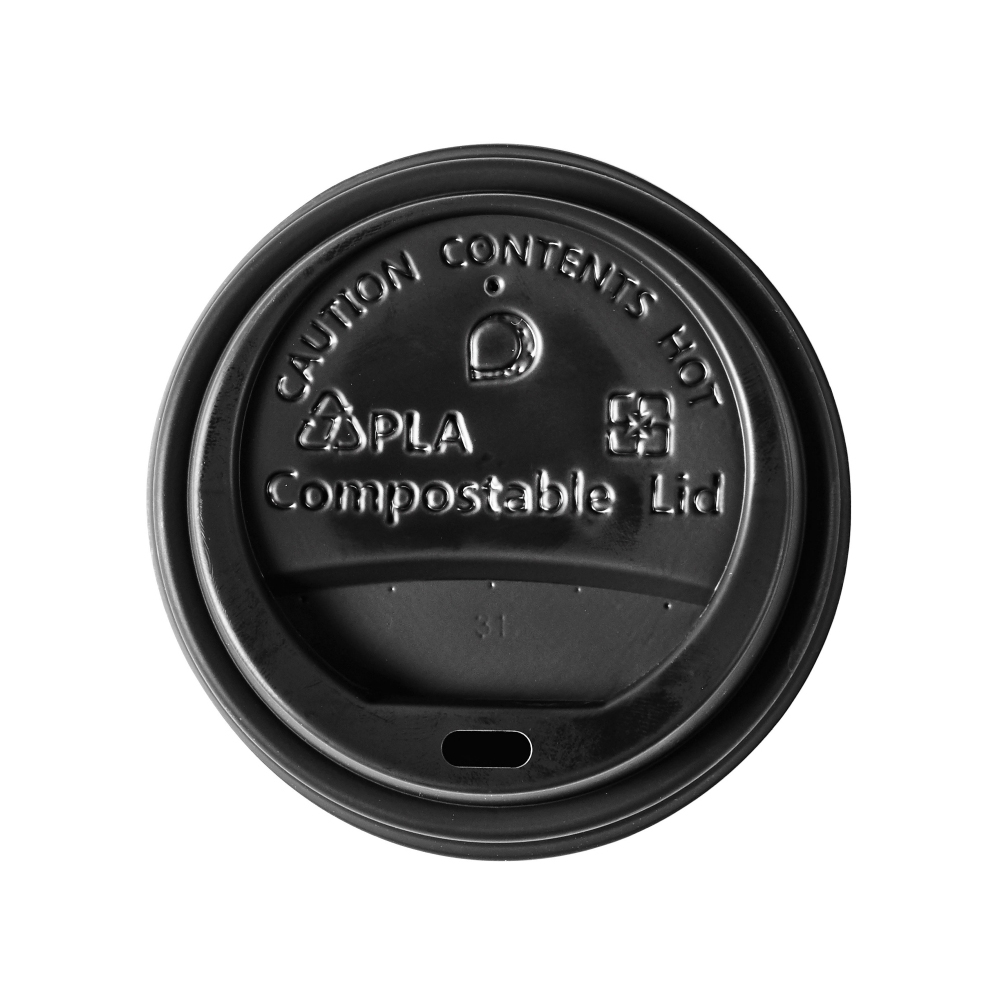 Domestic disposable cups or glasses or lids Ingeo Ultimate Eco Compostable CPLA Domed Sip-Through lid Ref 0511226 Pack 50