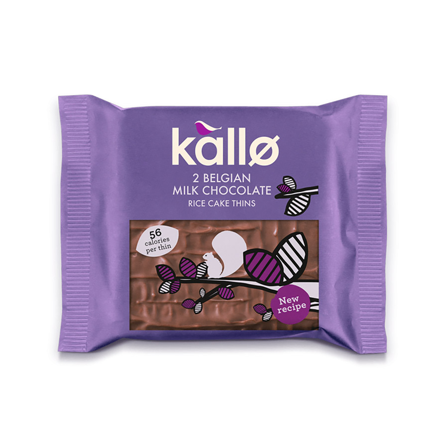 Natural sugars or sweetening products Kallo Gluten-free Rice Cake Thins Milk Chocolate Ref 0401171 Pack 21