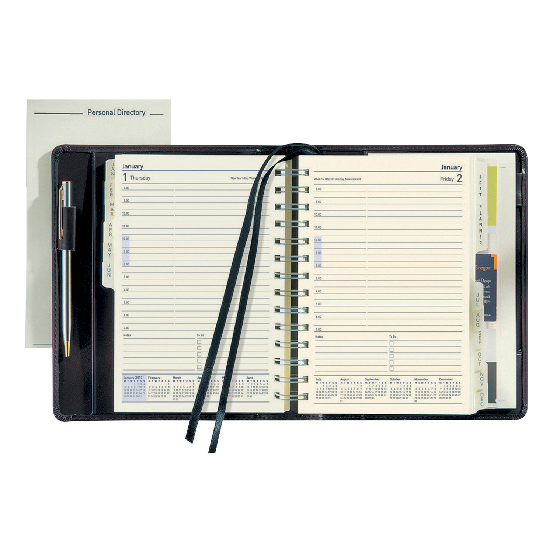 Collins Elite Diary Executive Day Per Page 2020 Black 1100V