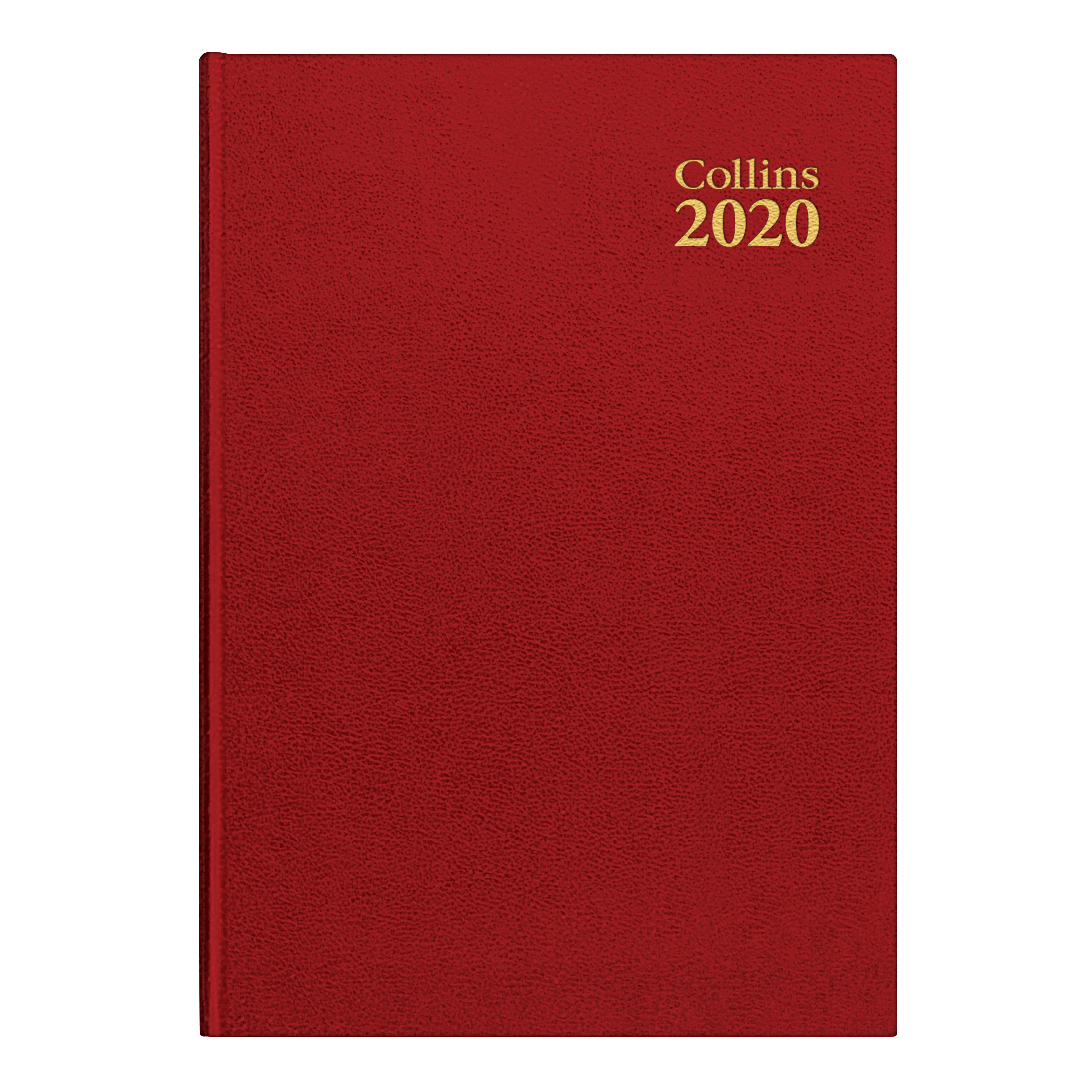 Collins 2020 Royal Desk Diary Day to Page Sewn Binding A5 210x148mm Red Ref 52 Red 2020