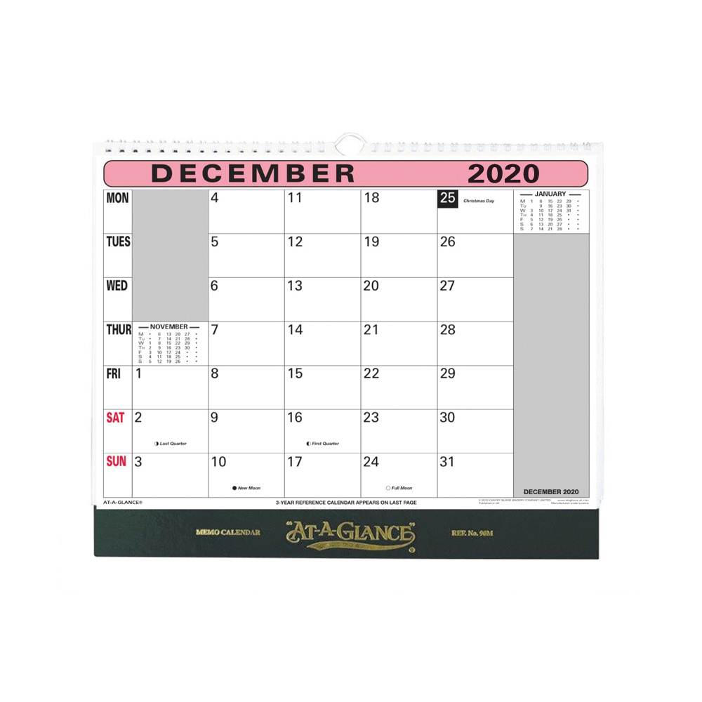 Calendars At-A-Glance 2020 Flip-over Wall Calendar Month to View 330x276mm Assorted Ref 90M 2020