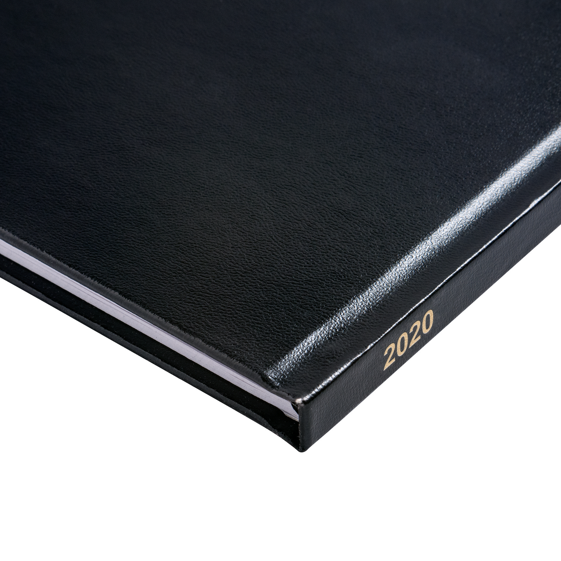 5 Star Office 2020 Quarto Diary Week to View Casebound and Sewn Vinyl Coated Board 220x270mm Black
