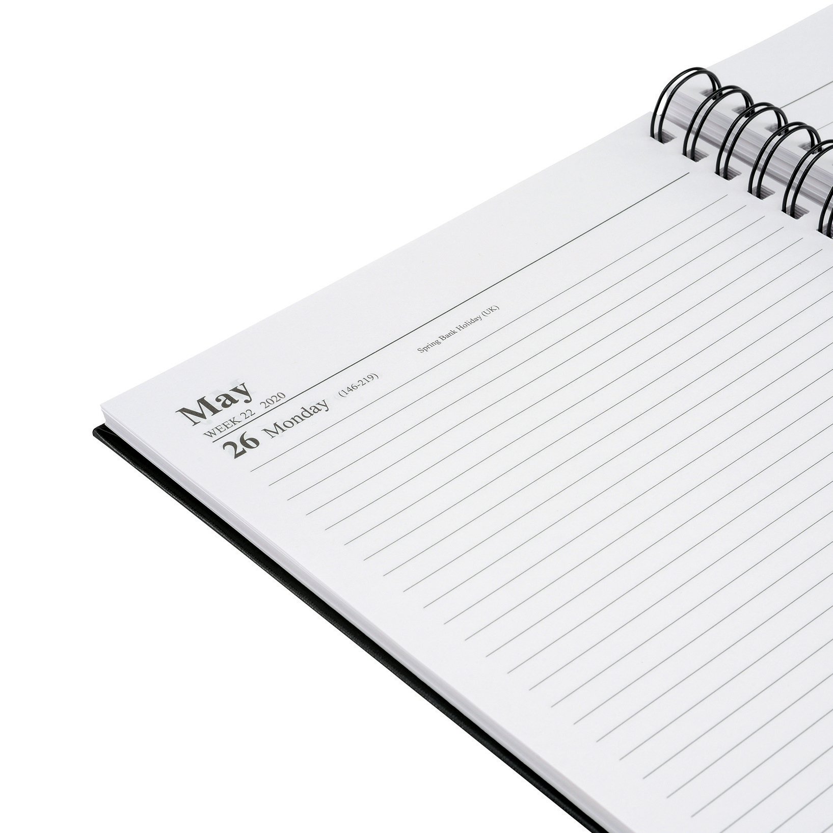 5 Star Office 2020 Diary Day to Page Wirobound Vinyl Coated Board A4 297x210mm Black