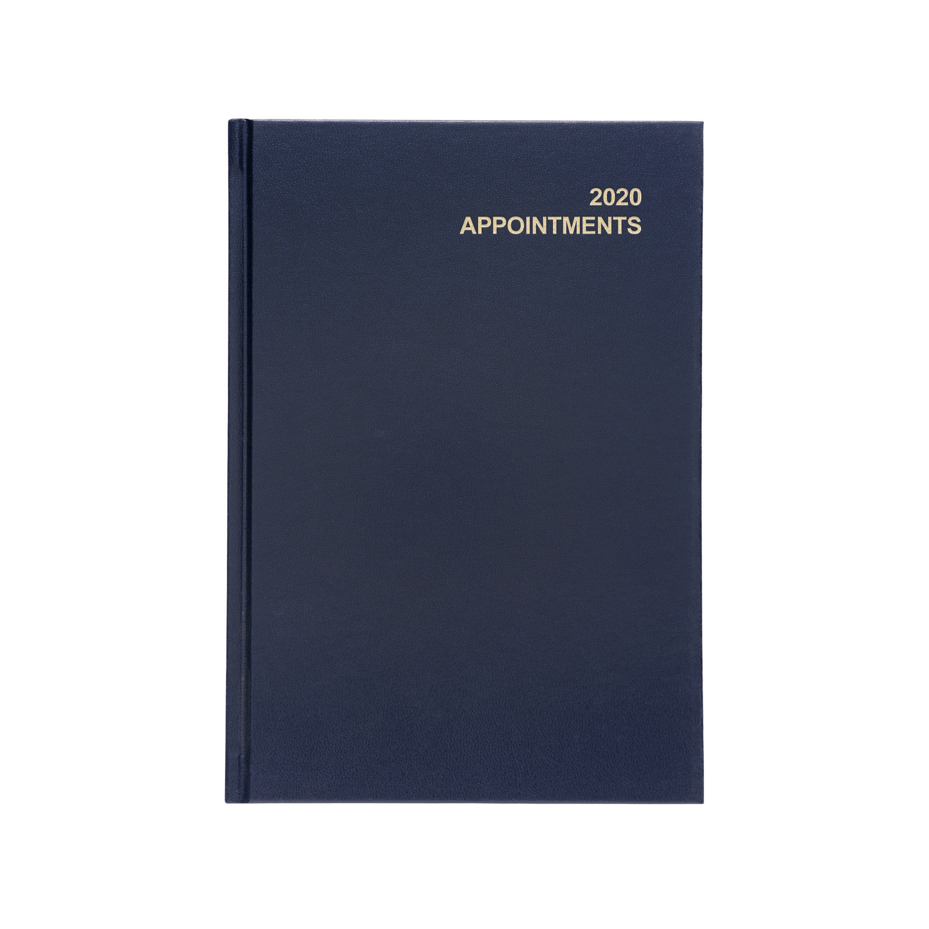 5 Star Office 2020 Appointment Diary Day to Page Casebound and Sewn Vinyl Coated Board A5 210x148mm Blue