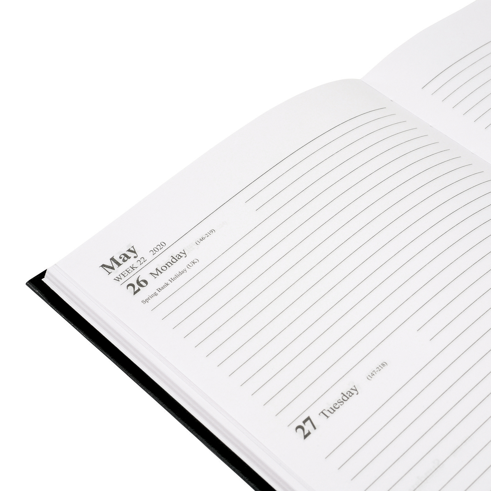 5 Star Office 2020 Diary Two Days to Page Casebound and Sewn Vinyl Coated Board A5 210x148mm Black