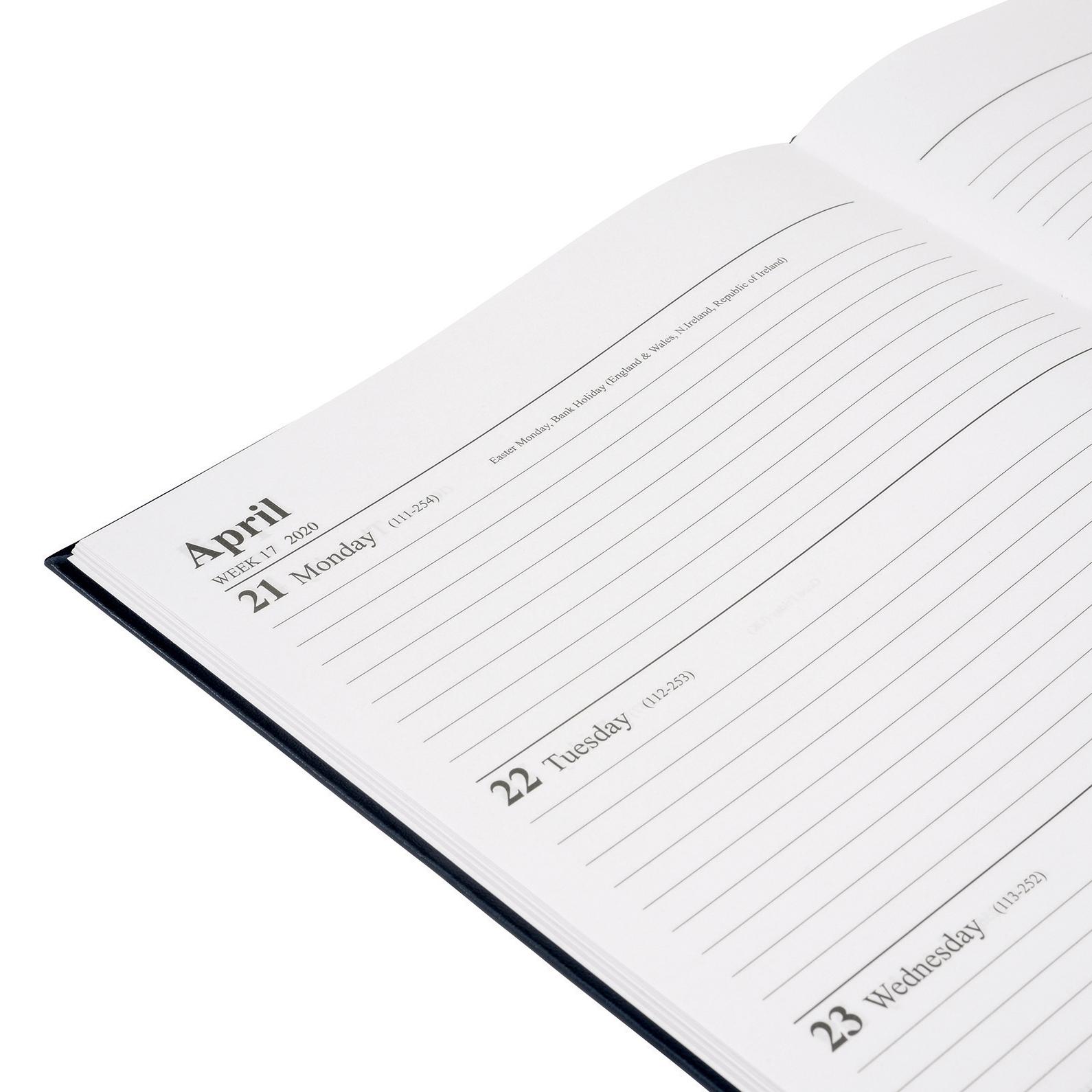 5 Star Office 2020 Diary Week to View Casebound and Sewn Vinyl Coated Board A4 297x210mm Blue