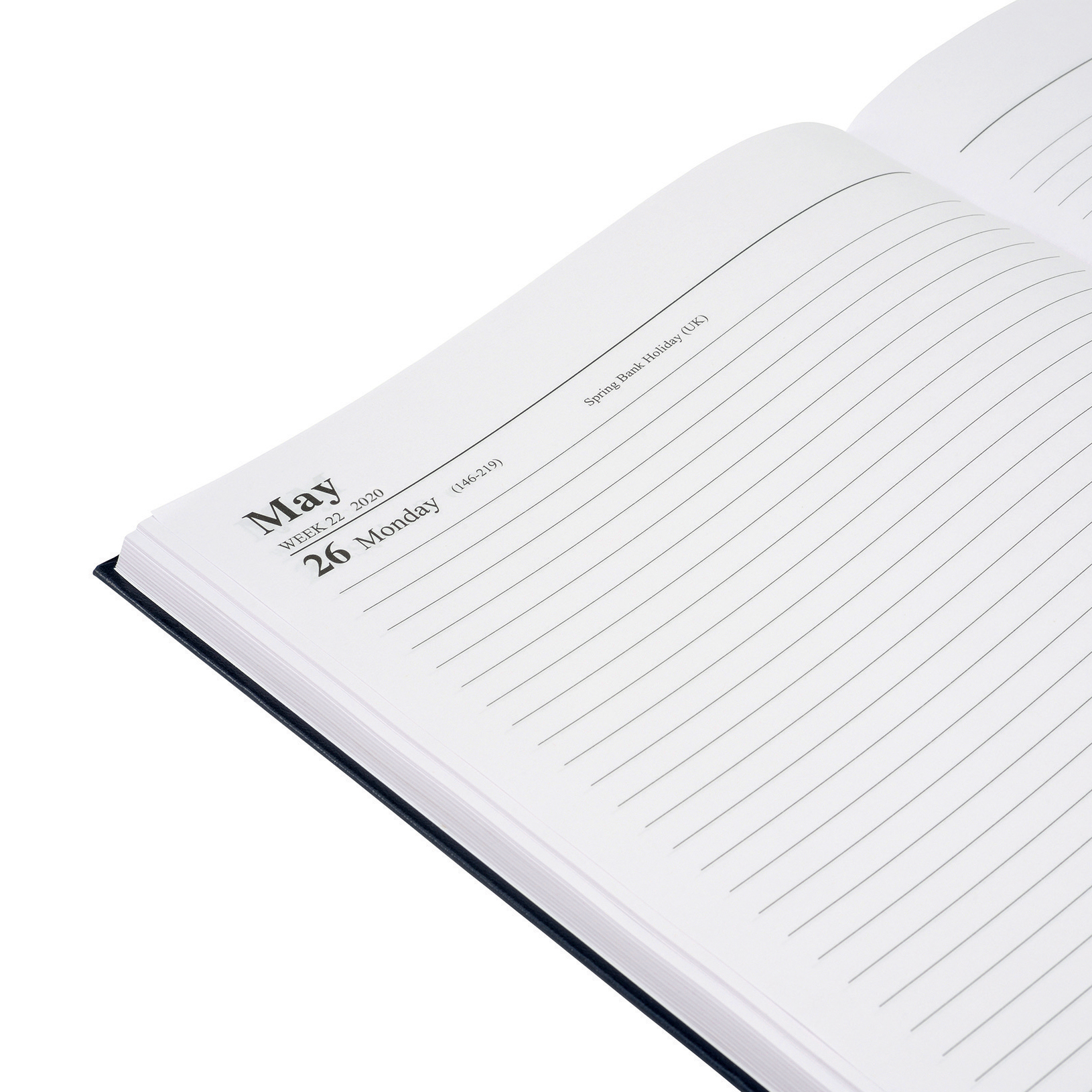 5 Star Office 2020 Diary Day to Page Casebound and Sewn Vinyl Coated Board A4 297x210mm Blue